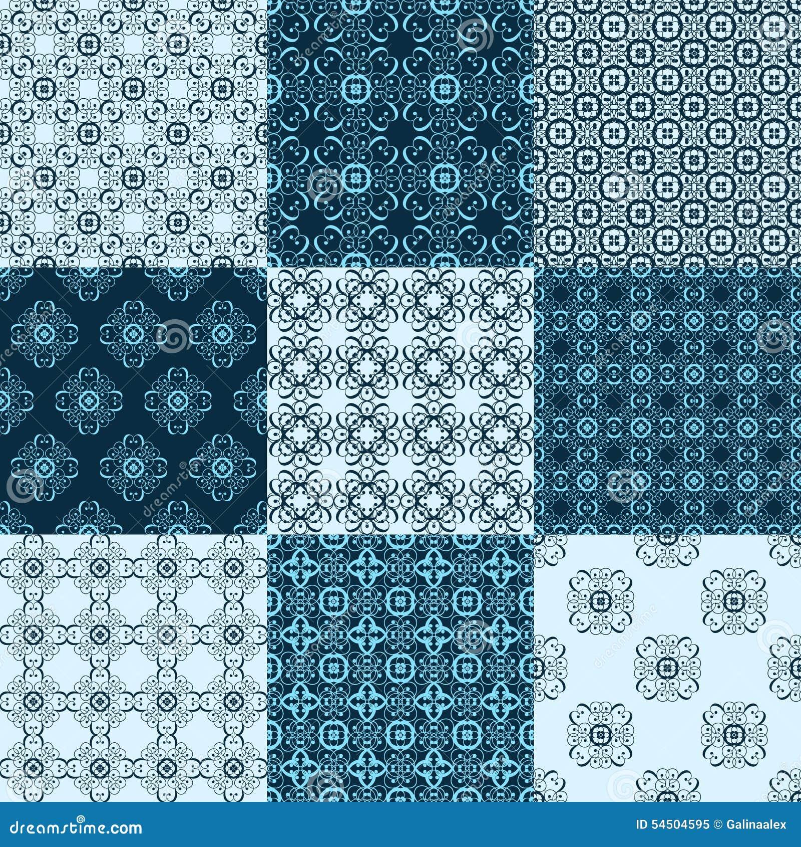 Ensemble de modèles géométriques sans couture de vecteur Textures de vintage d