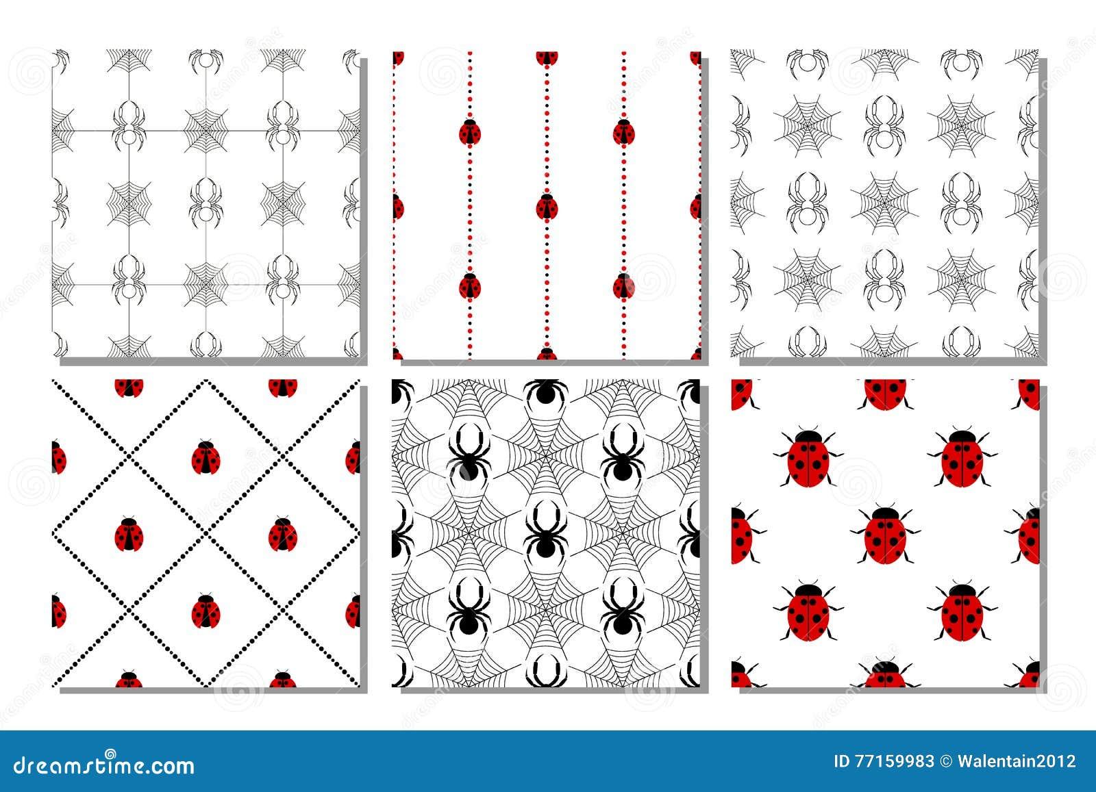 Ensemble de modèles sans couture de vecteur avec des insectes