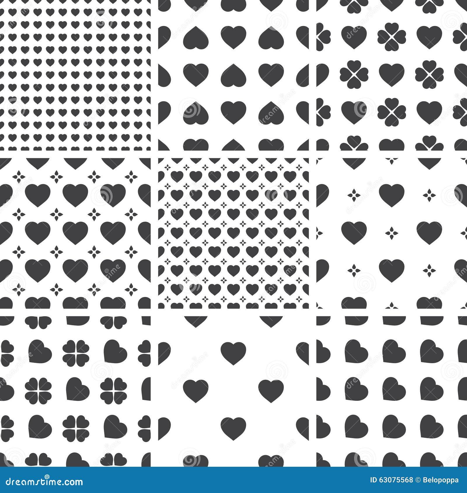 Download Ensemble De Modèles Universels Sans Couture Géométriques Monochromes, Couvrant De Tuiles Illustration de Vecteur - Illustration du repeatable, répétition: 63075568