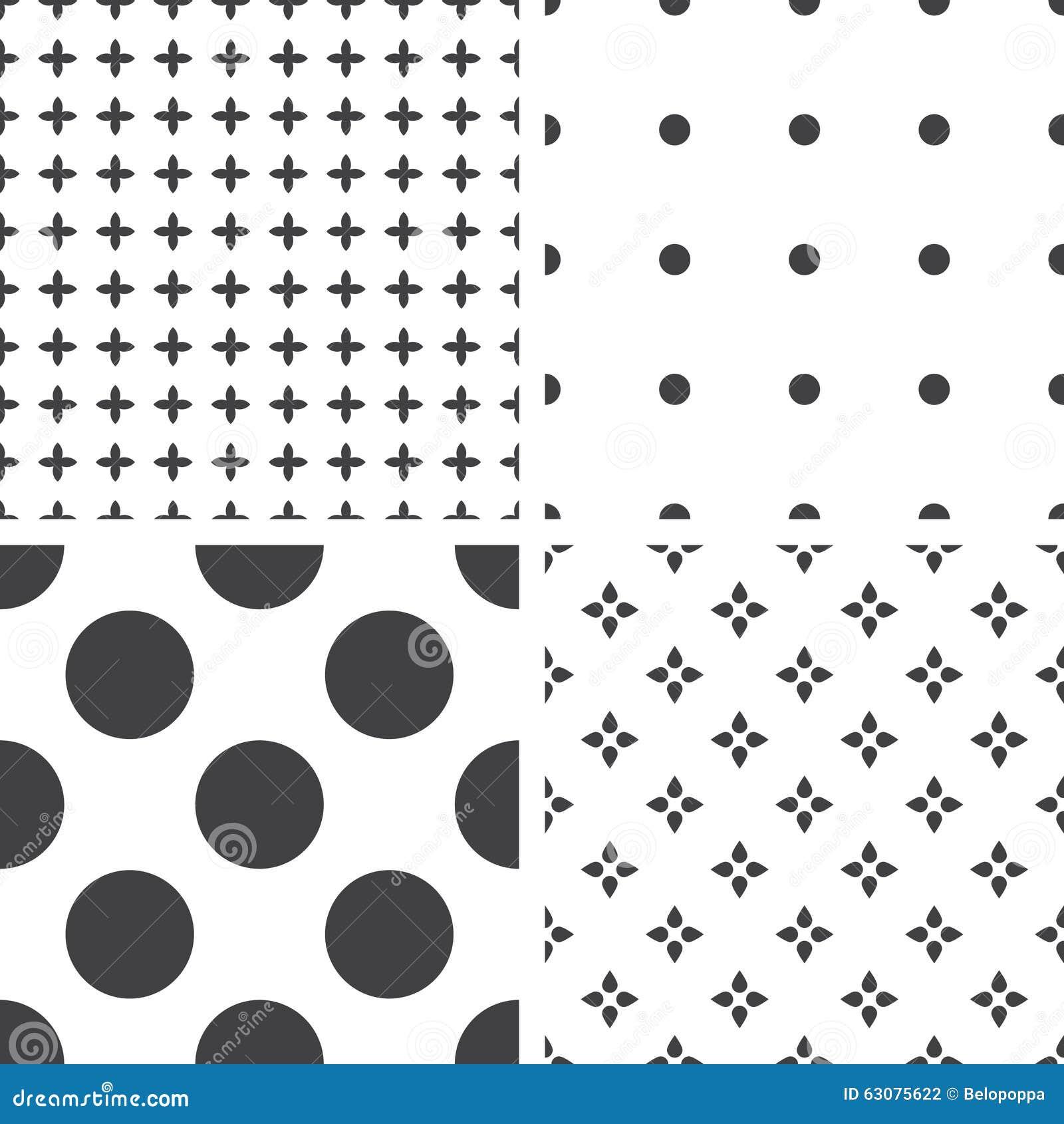 Download Ensemble De Modèles Universels Sans Couture Géométriques Monochromes, Couvrant De Tuiles Illustration de Vecteur - Illustration du trèfle, mode: 63075622
