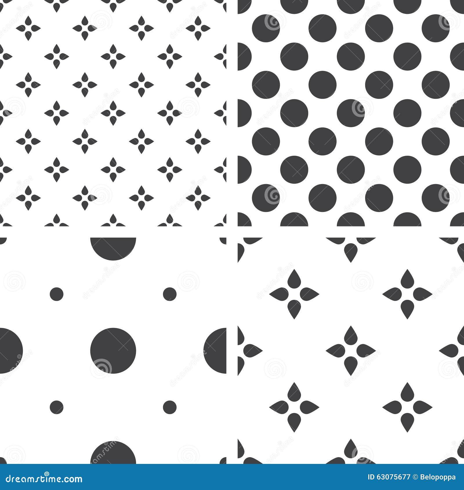 Download Ensemble De Modèles Universels Sans Couture Géométriques Monochromes, Couvrant De Tuiles Illustration de Vecteur - Illustration du contexte, seamless: 63075677