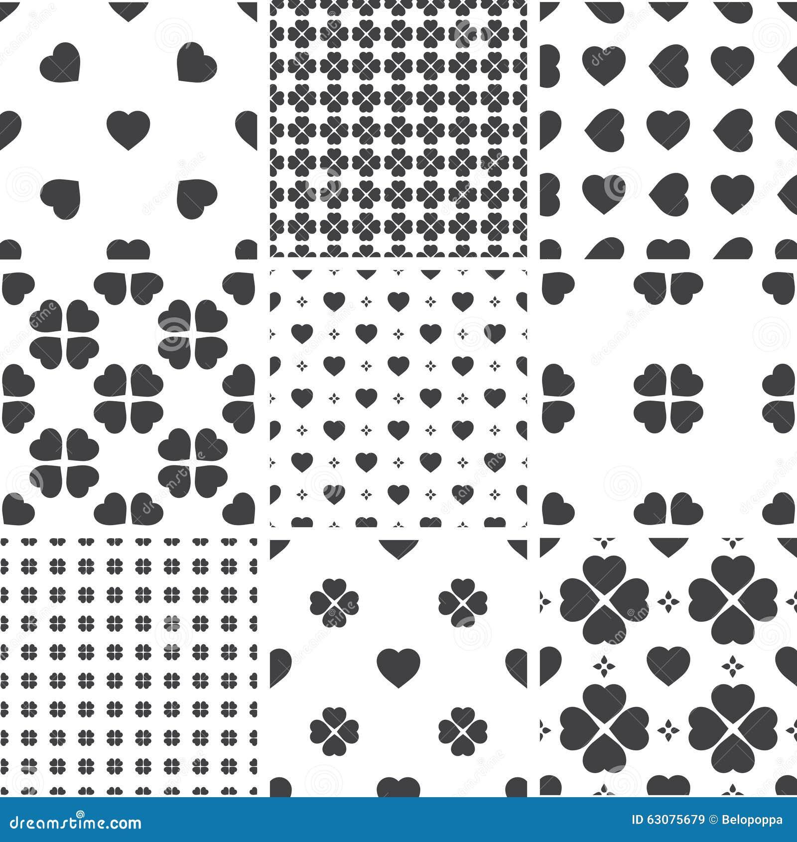Download Ensemble De Modèles Universels Sans Couture Géométriques Monochromes, Couvrant De Tuiles Illustration de Vecteur - Illustration du conception, monochrome: 63075679