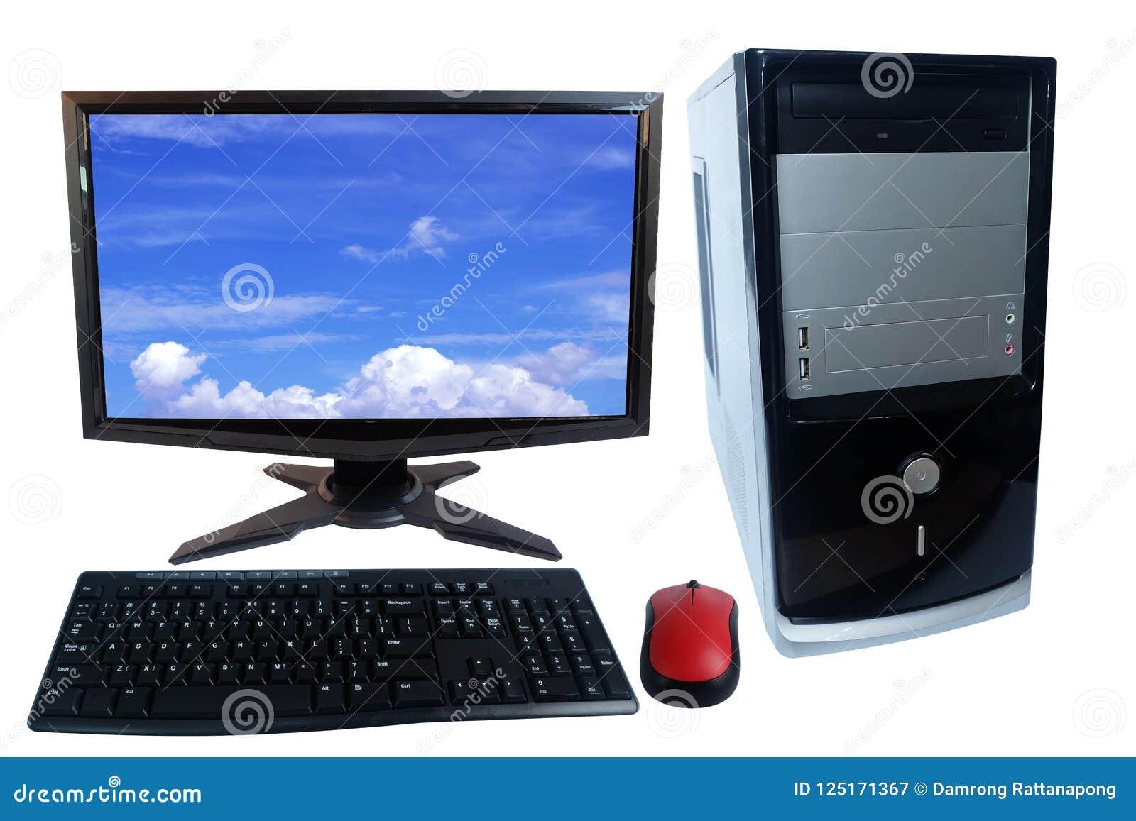 Ensemble De PC D'ordinateur De Bureau, Moniteur, Clavier Et