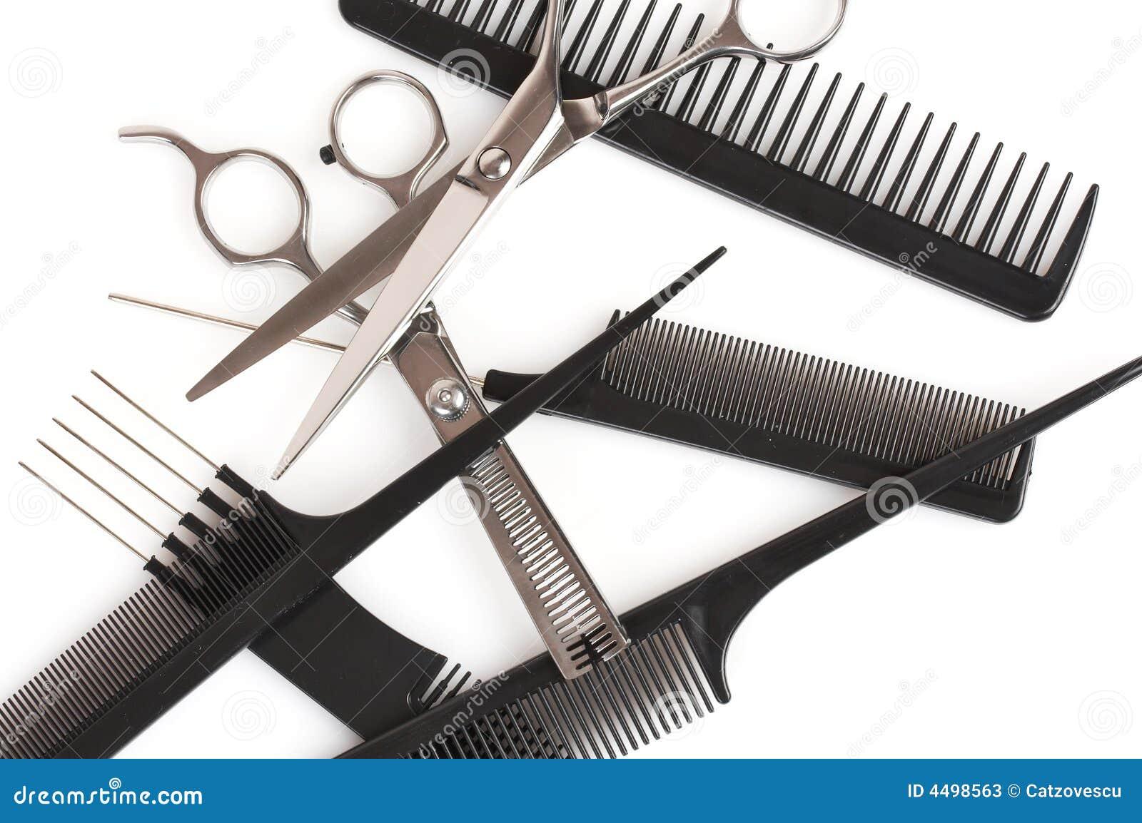 Ensemble de peignes et de ciseaux accessoires de coiffure for Accessoire pour salon de coiffure