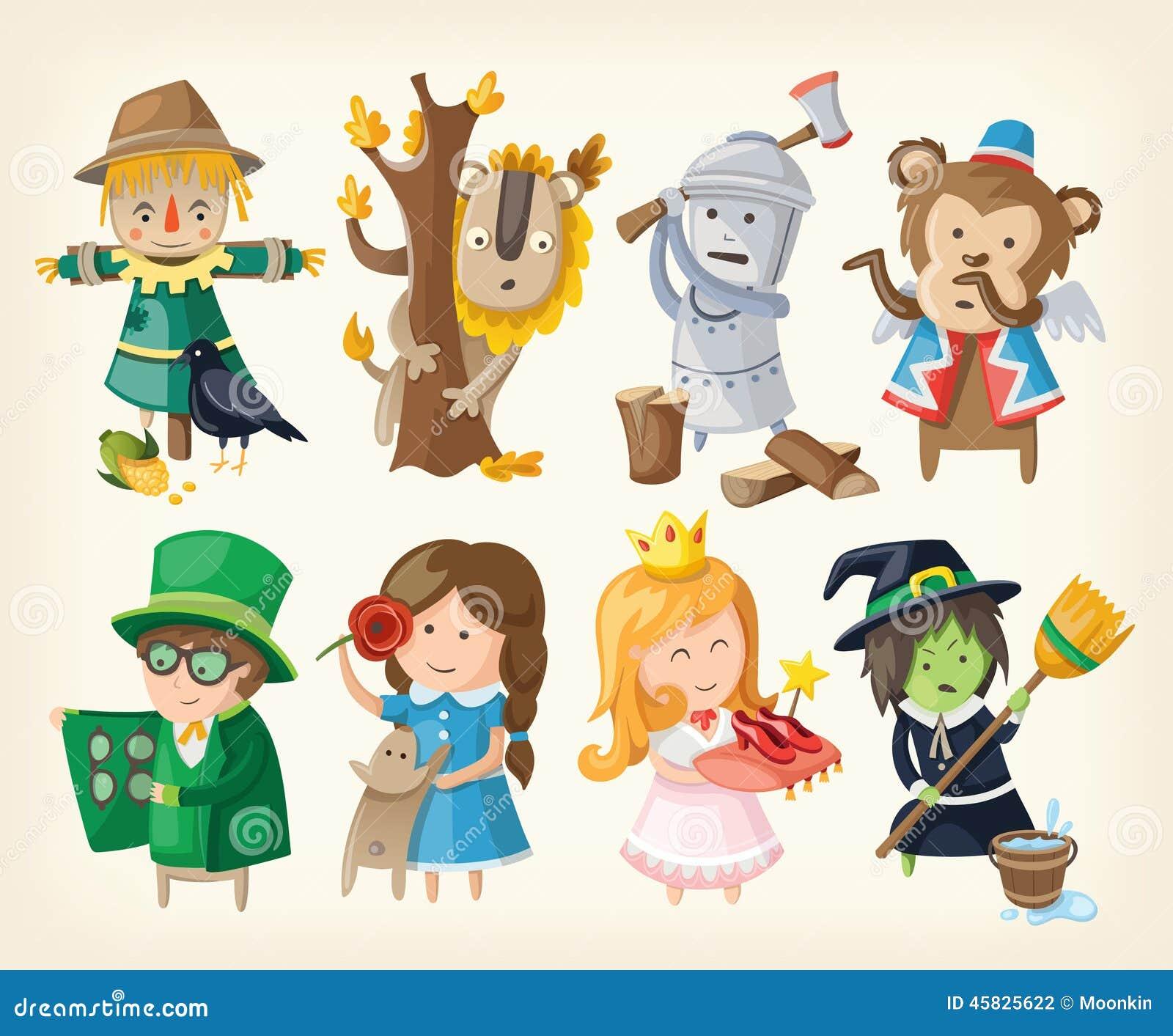Ensemble de personnalités de jouet des contes de fées