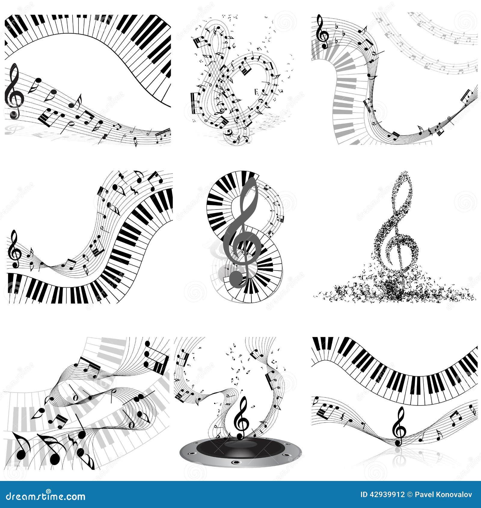 Ensemble de personnel de notes musicales
