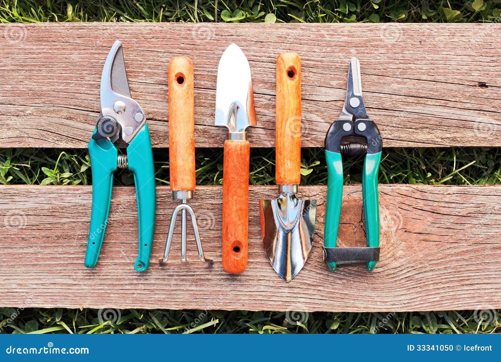 Ensemble de petits outils de jardinage photo stock image for Conseil en jardinage