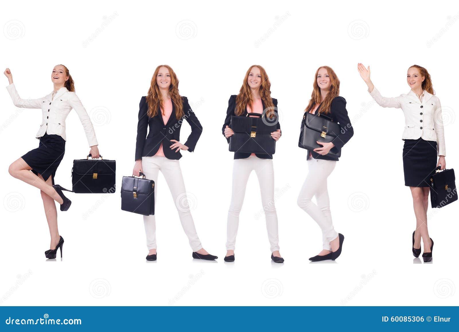 ensemble de photos avec la femme d 39 affaires photo stock image du m tier businesswoman 60085306. Black Bedroom Furniture Sets. Home Design Ideas