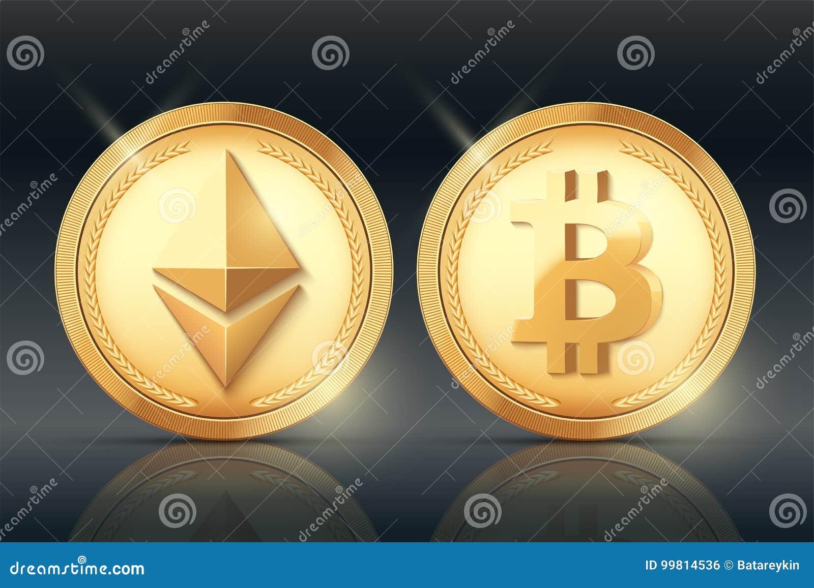 Ensemble de pièce d or de Cryptocurrency