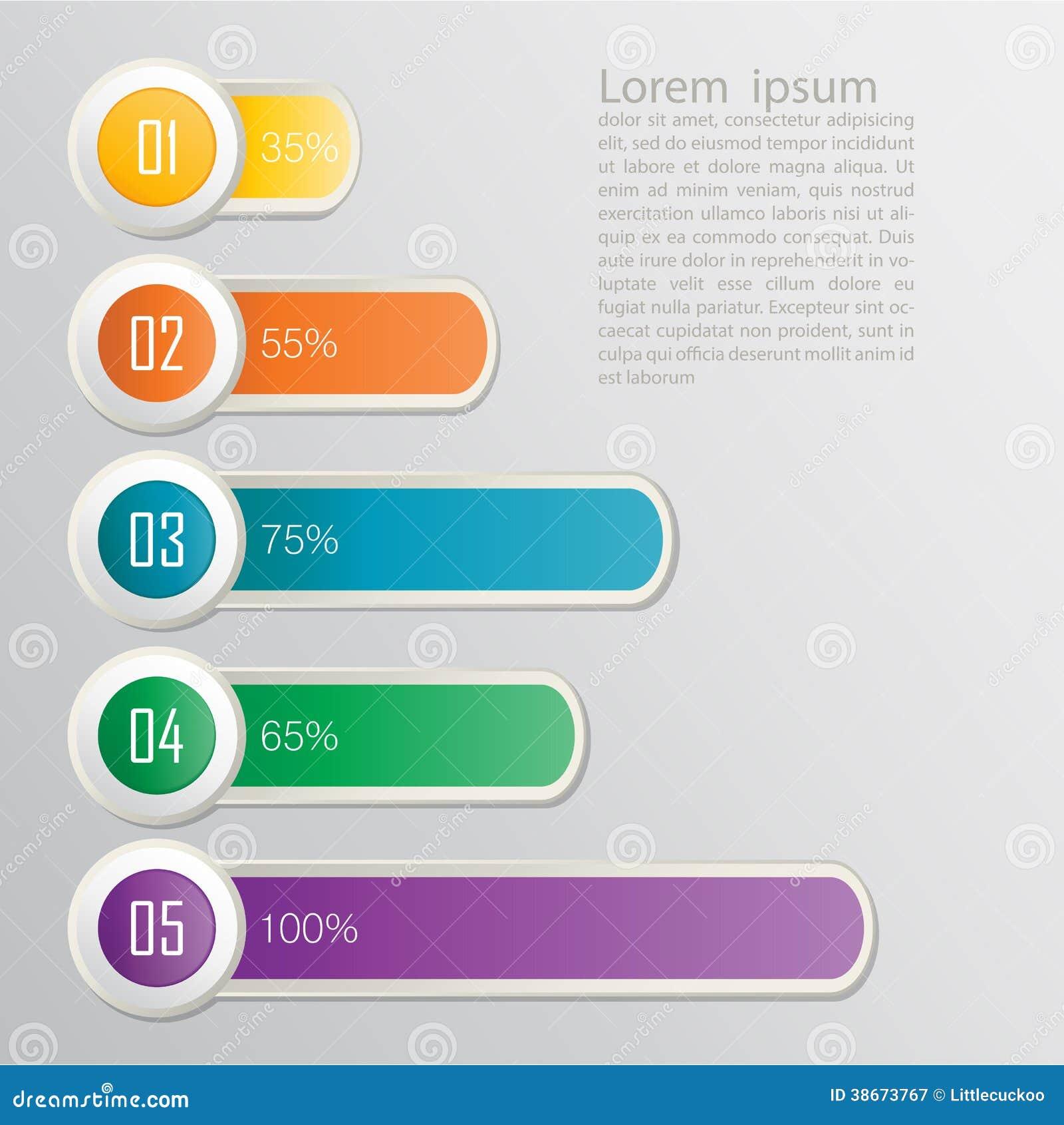 Ensemble de rubans. Conception d Infographic