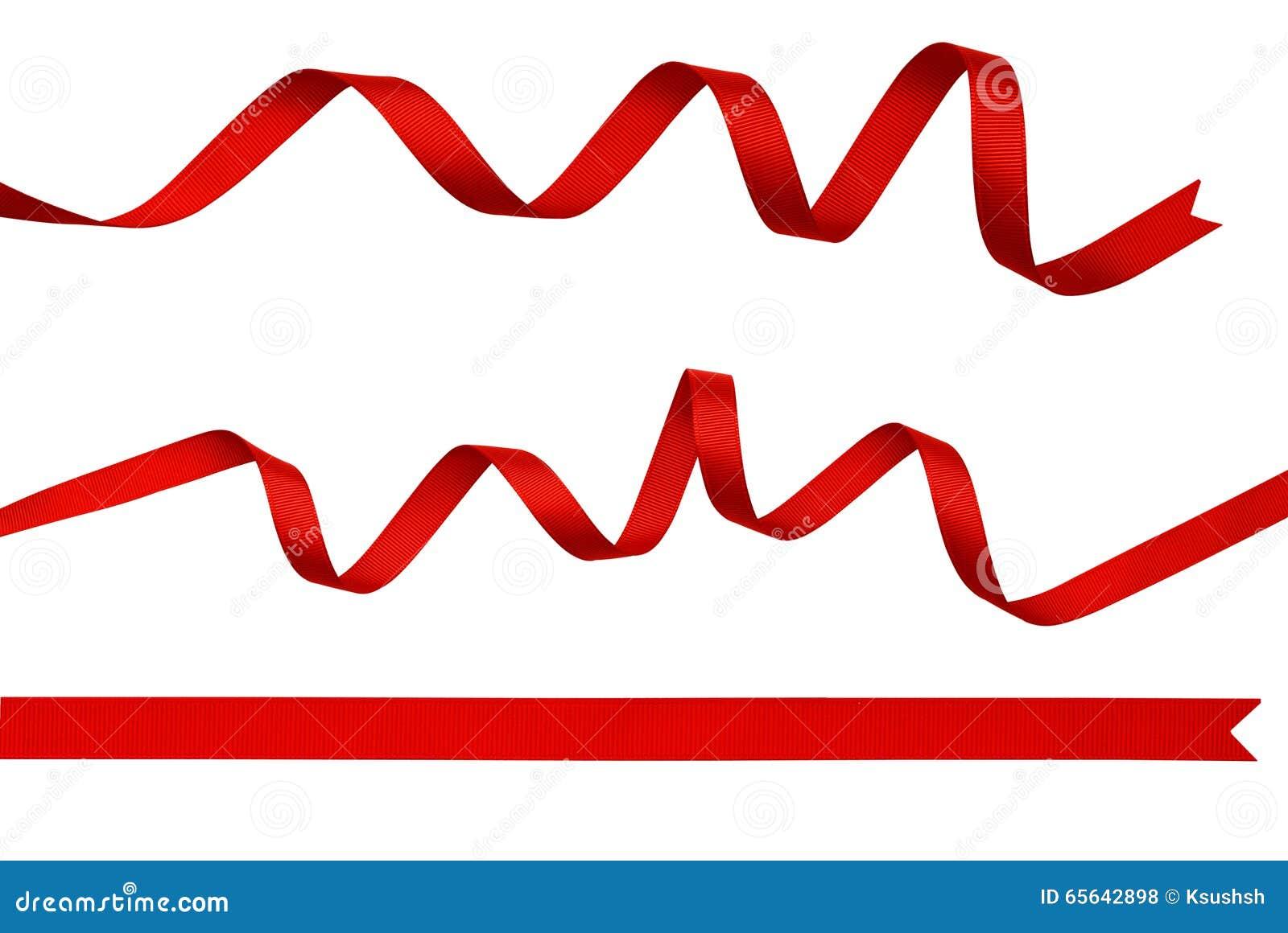 Ensemble de rubans en soie rouges