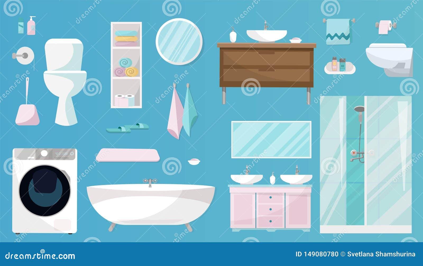 Ensemble de salle de bains de meubles, d articles de toilette, d hygi?ne, d ?quipement et d articles d hygi?ne pour la salle de b