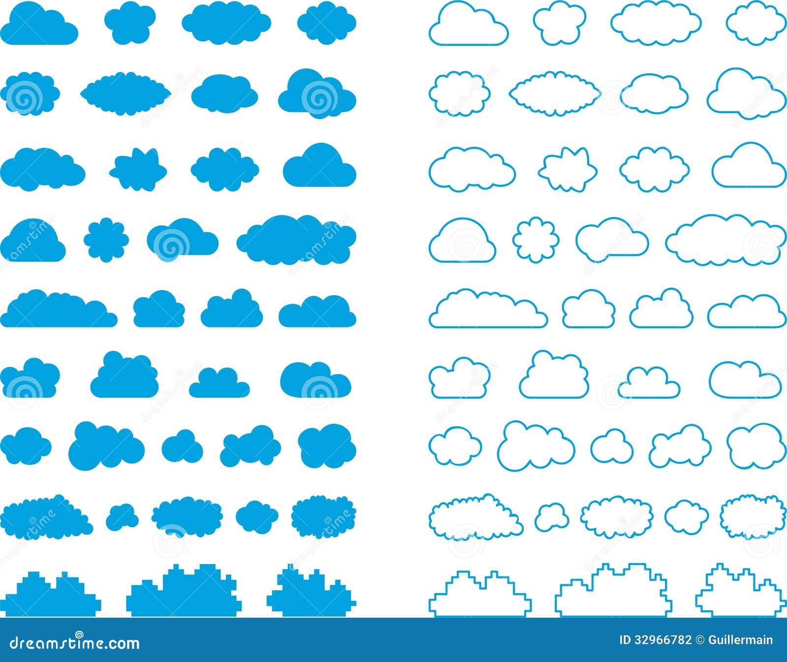 Ensemble de signes de nuage