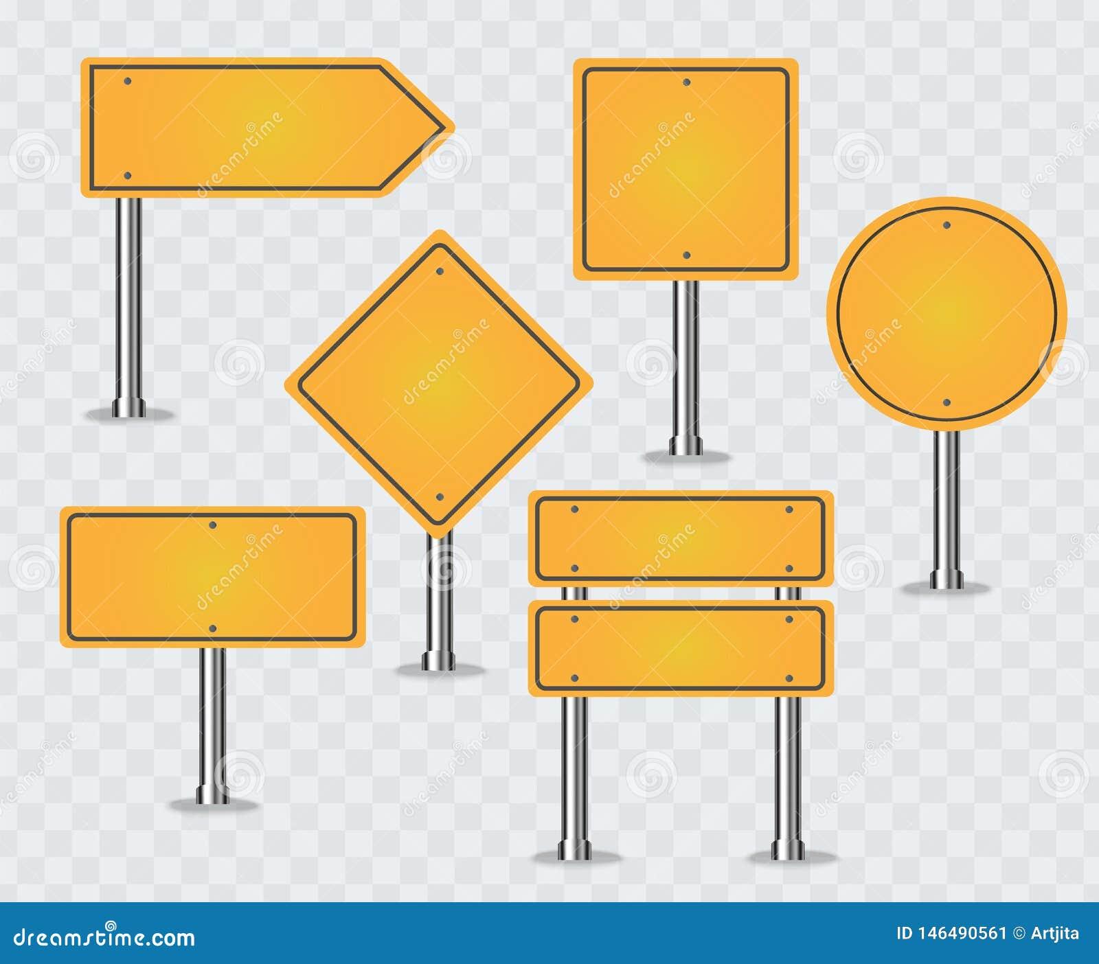 Ensemble de signes de route