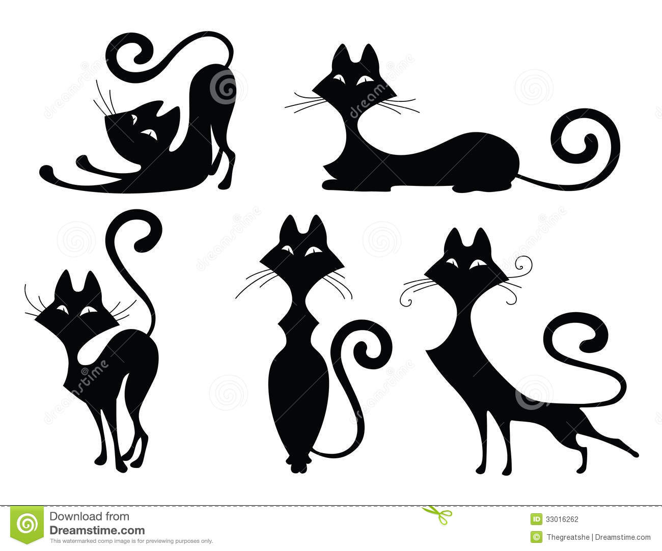 Ensemble de silhouettes de chat photographie stock image - Dessin silhouette chat ...