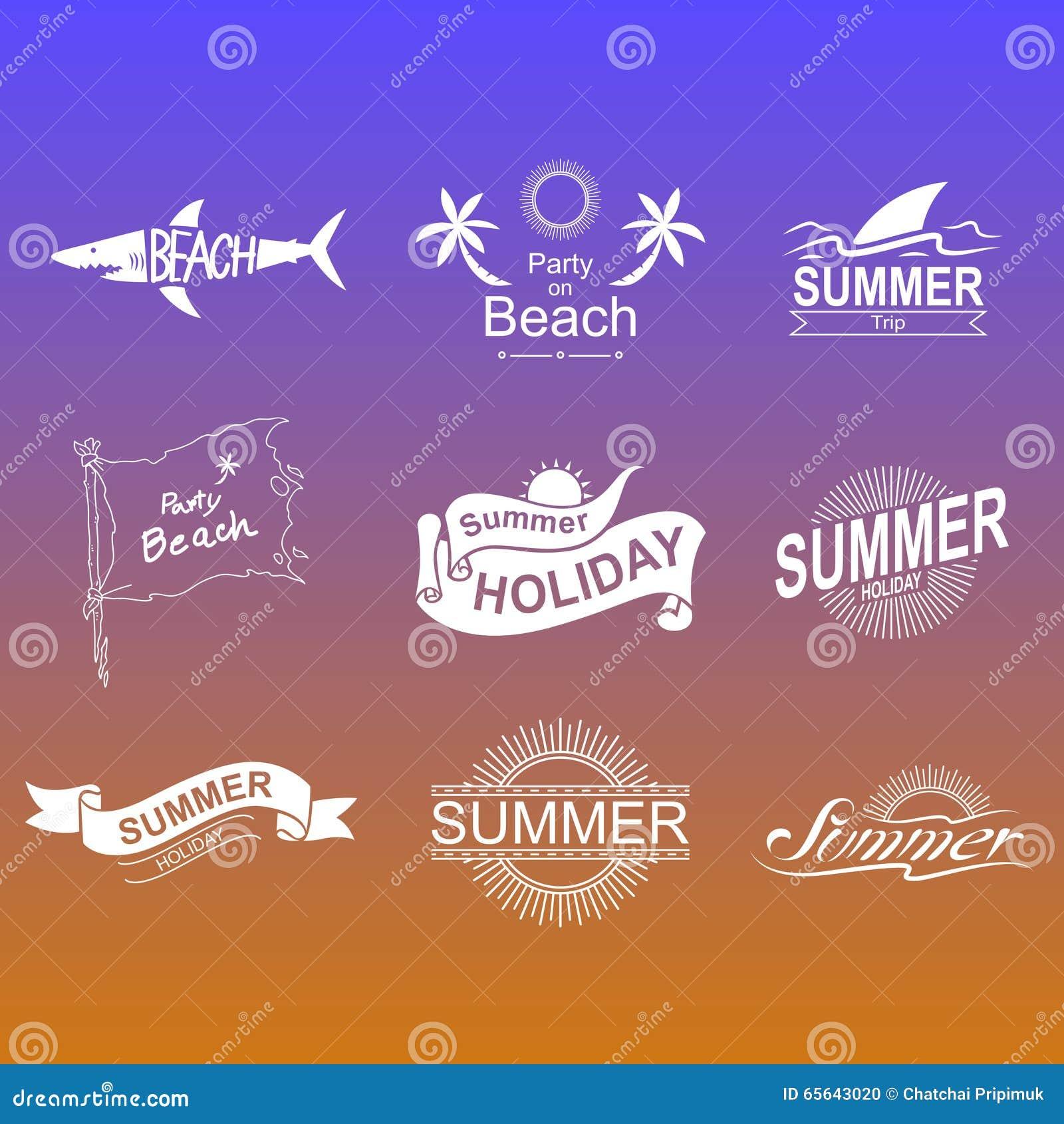 Ensemble de symboles d été, vecteur