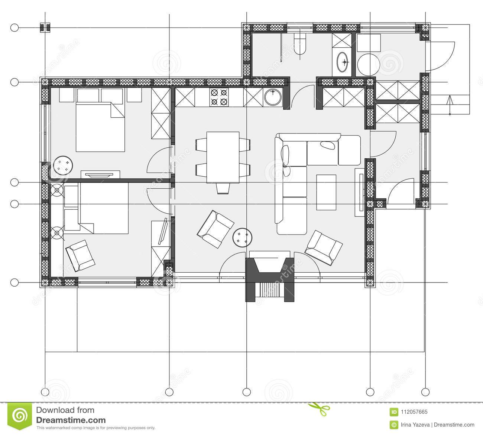 plan appartement symbole