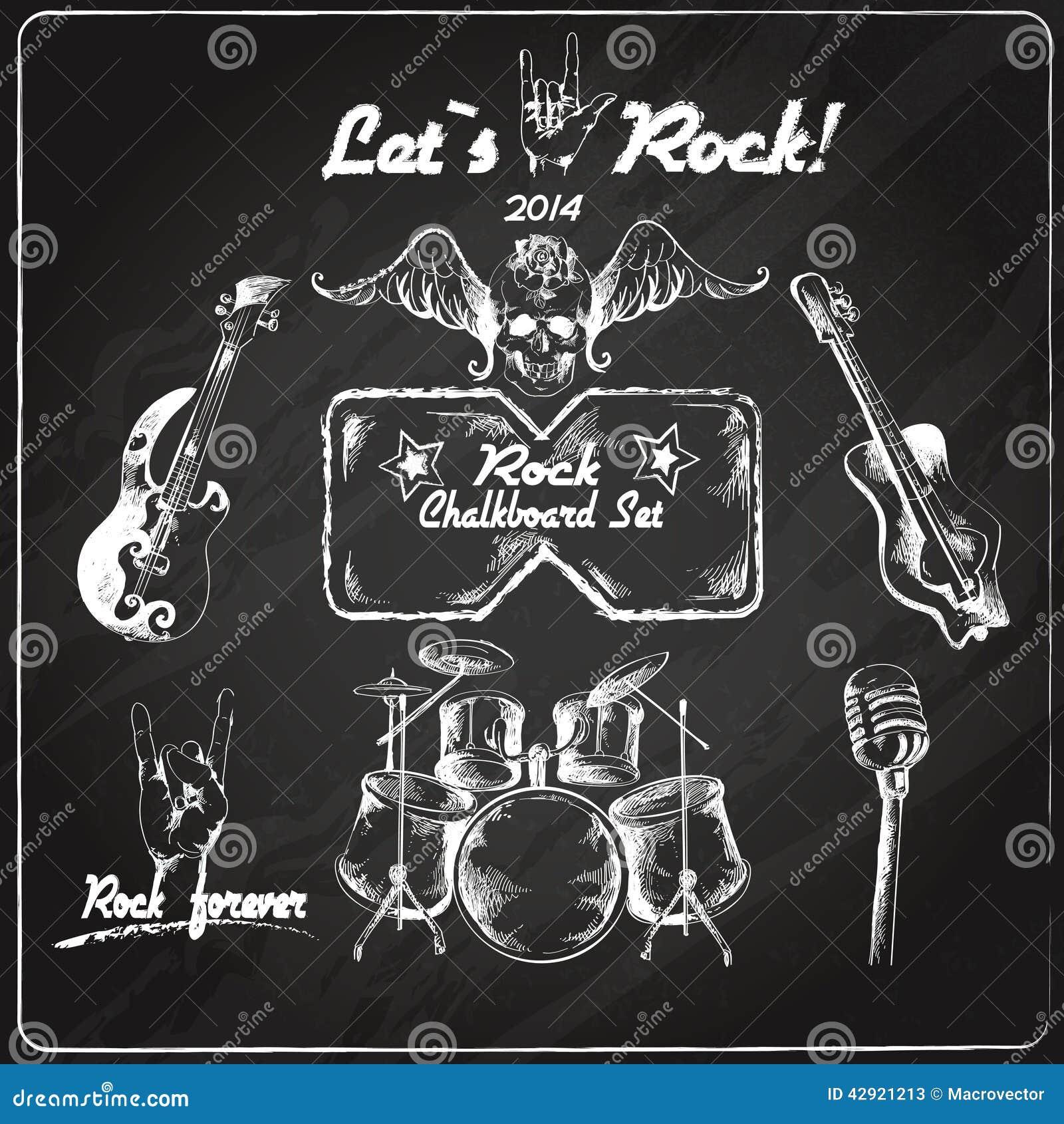 Ensemble de tableau de musique rock