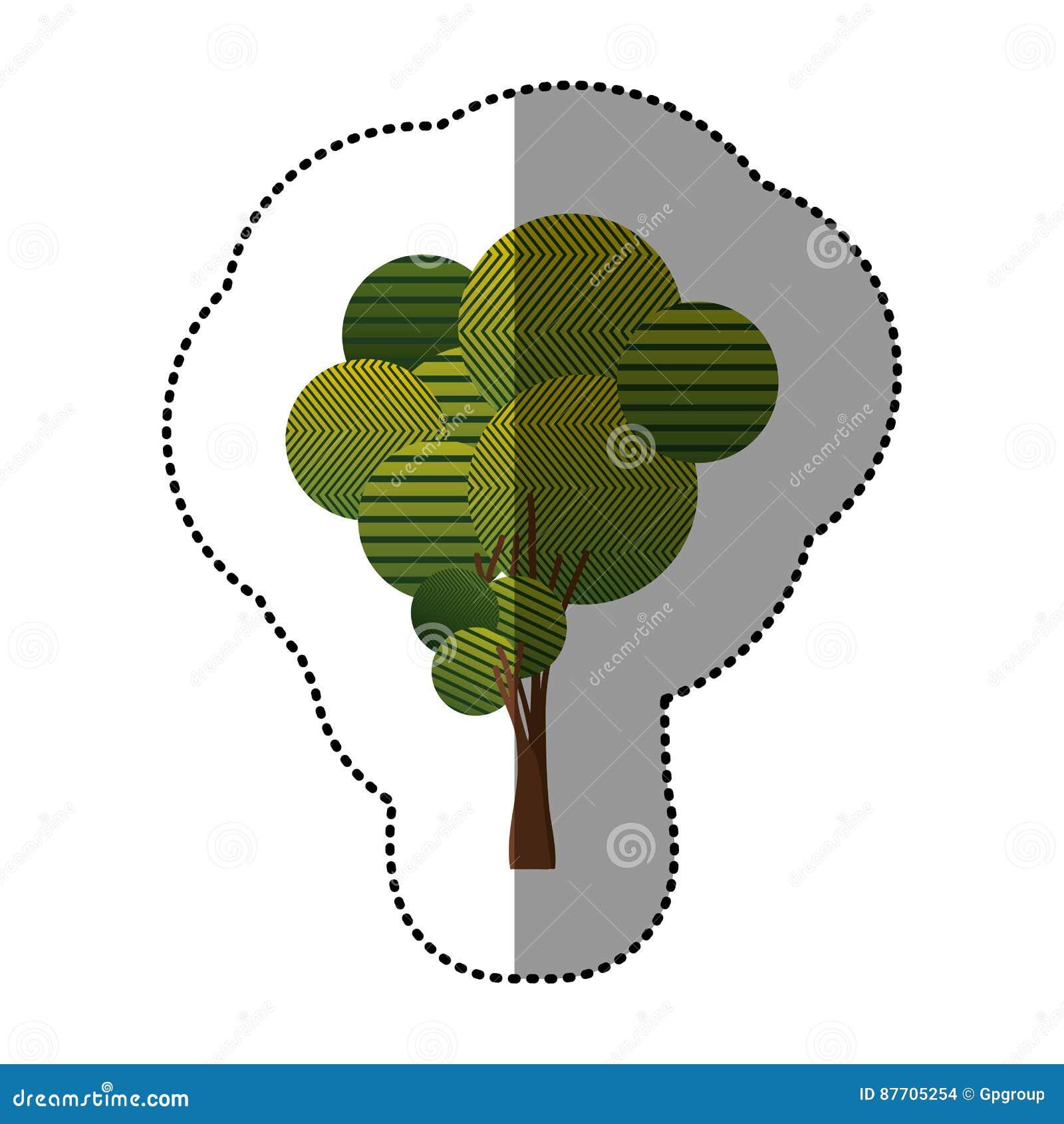 Ensemble de timbre d icône abstraite d arbre
