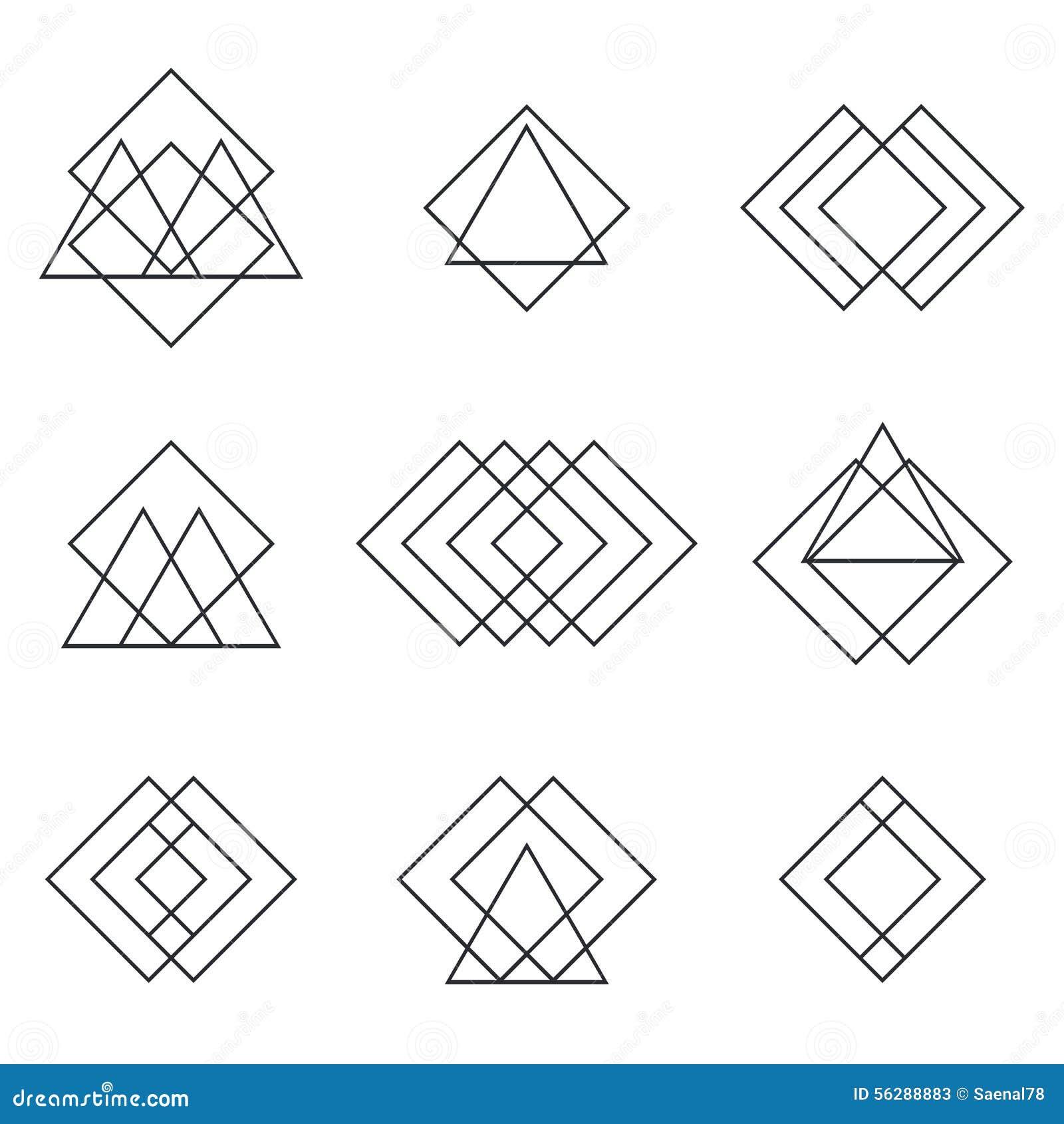 Lion tattoo meanings - Ensemble De Triangles G 233 Om 233 Triques De Formes Lignes Pour