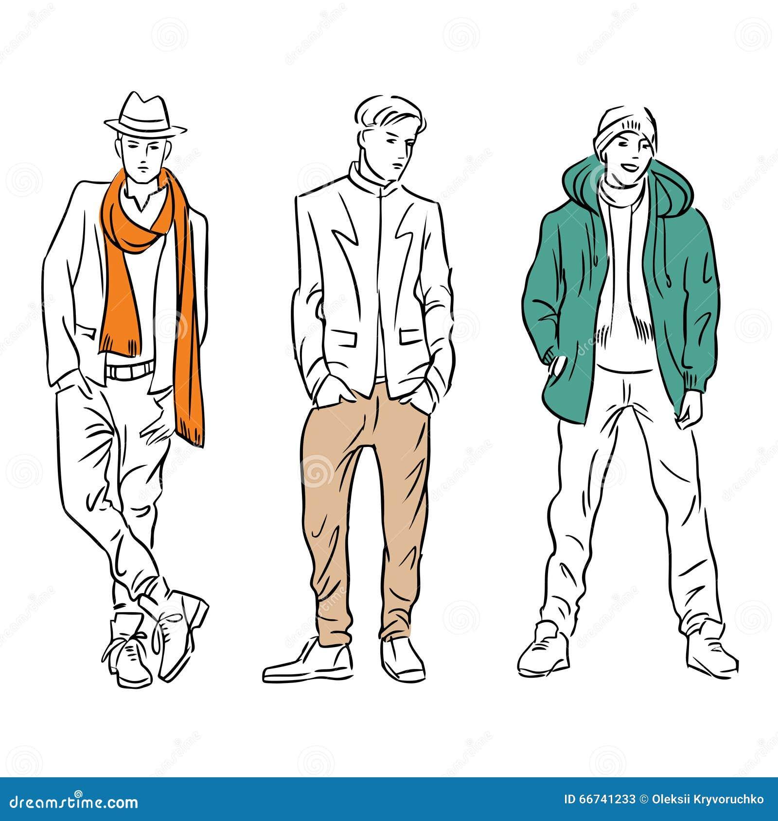 Ensemble De Vêtements De Mannequins Des Hommes Au Printemps
