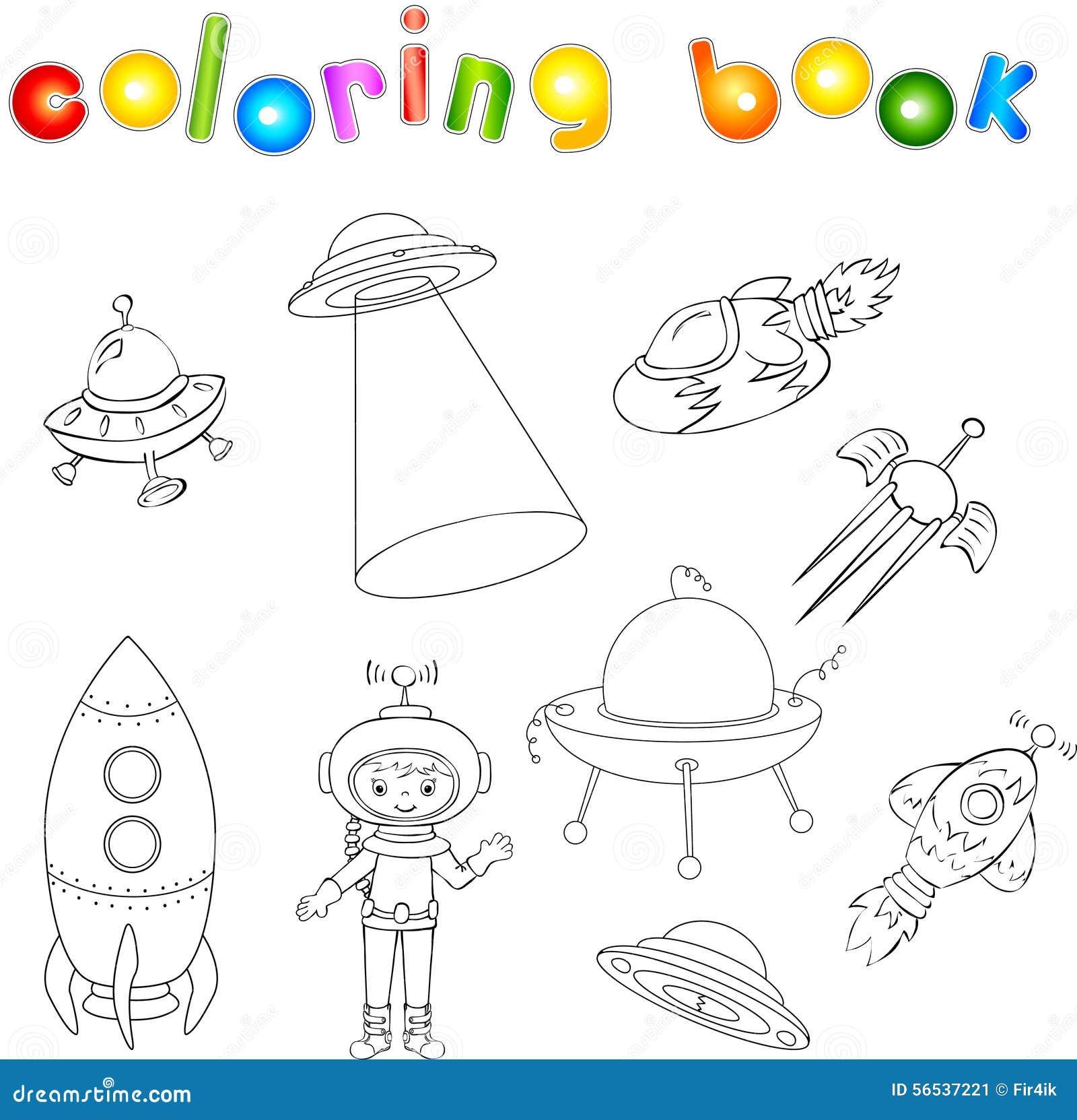 Ensemble de vaisseau spatial de vaisseau spatial et de - Soucoupe volante dessin ...
