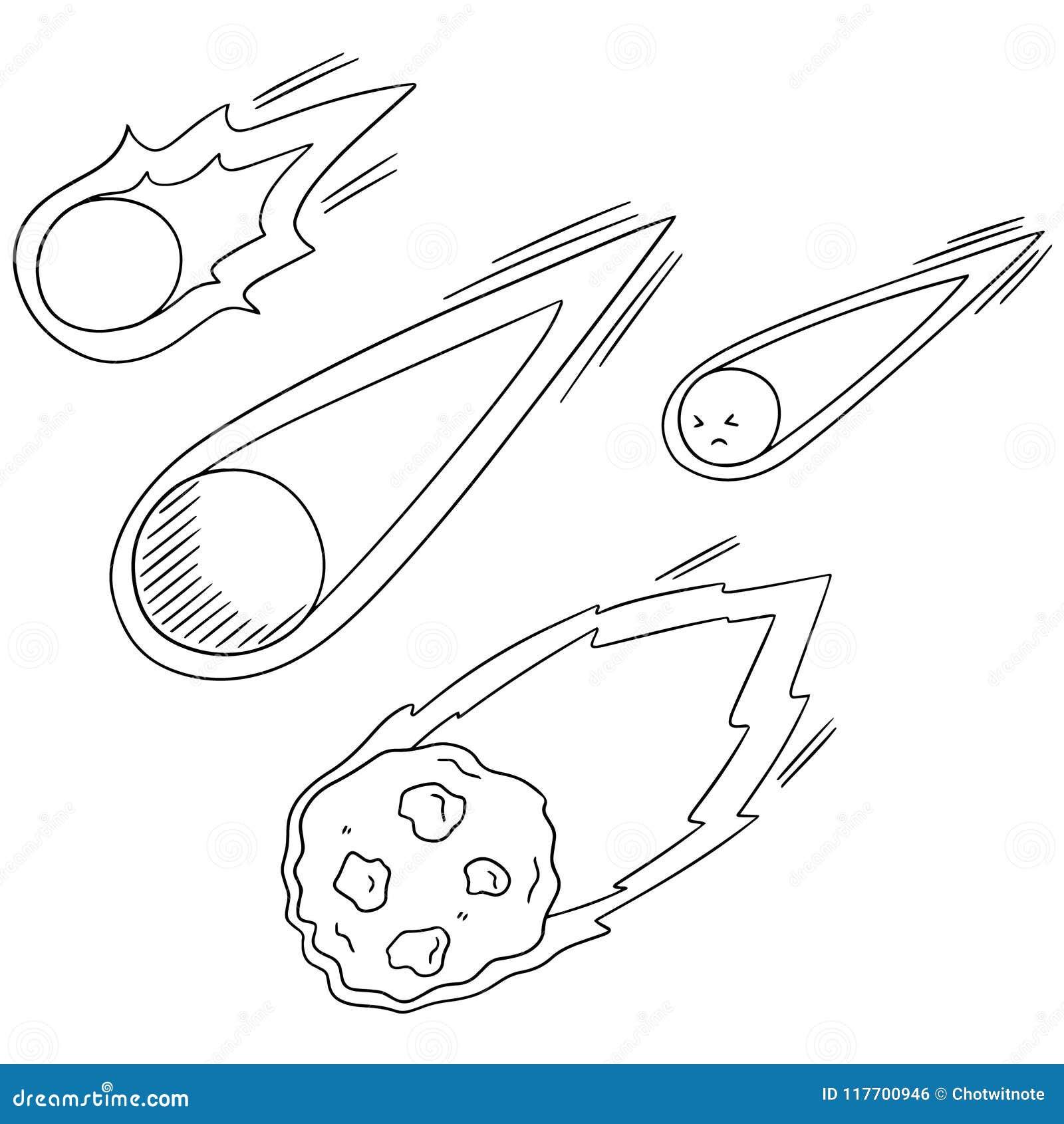 Ensemble de vecteur de comète