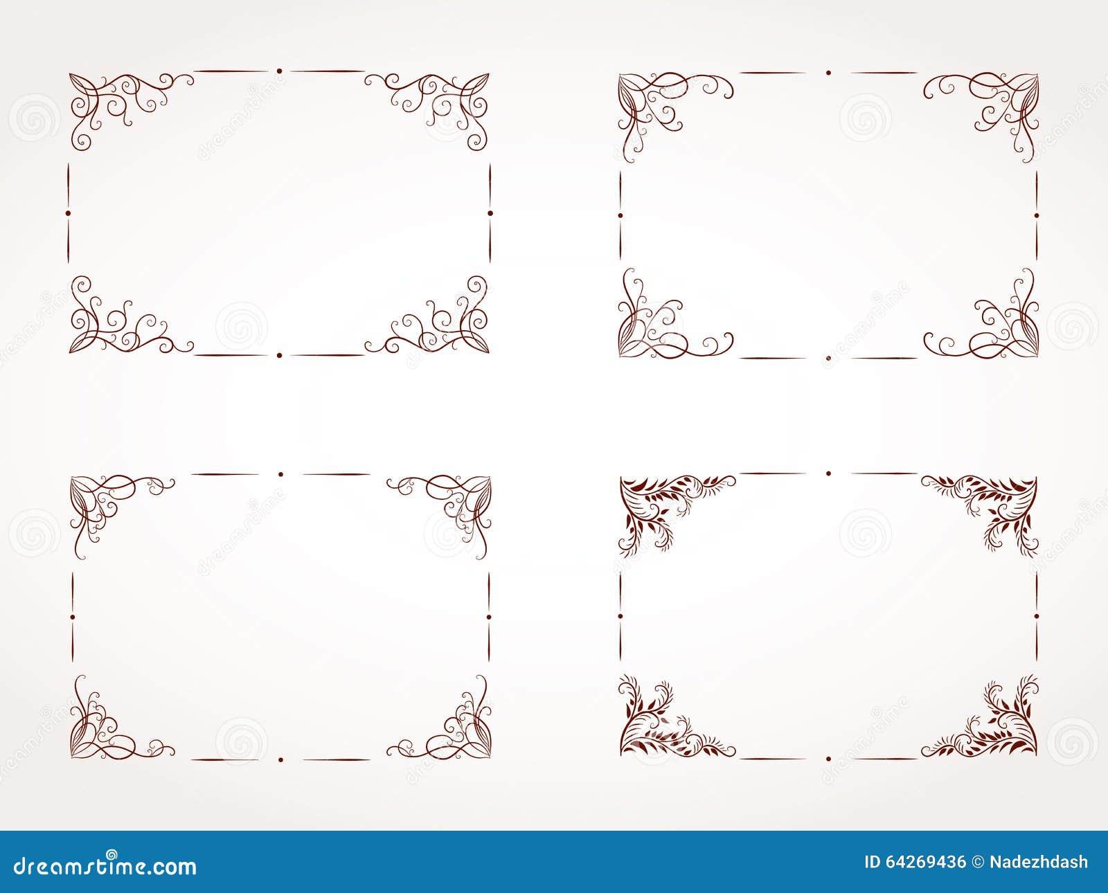 ensemble de vecteur de cadre ornemental rectangulaire photo stock image 64269436. Black Bedroom Furniture Sets. Home Design Ideas