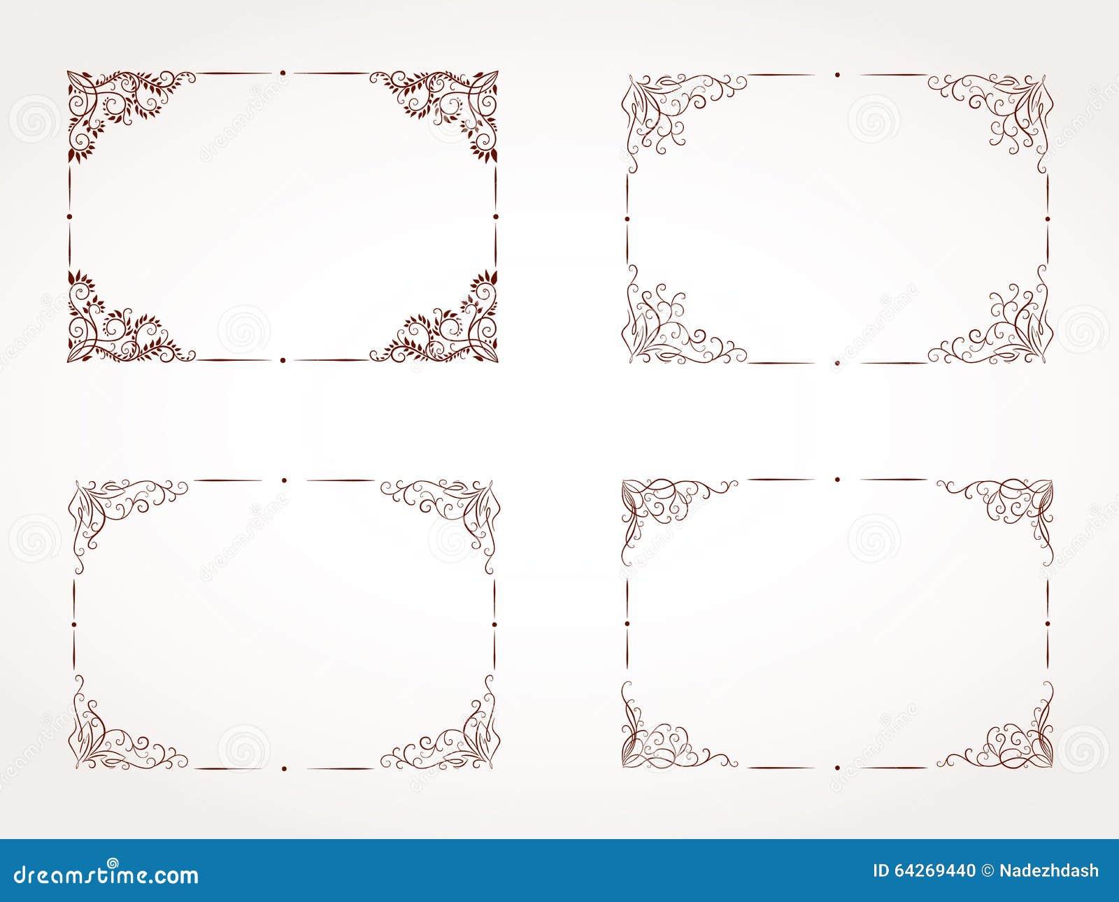 ensemble de vecteur de cadre ornemental rectangulaire photo stock image 64269440. Black Bedroom Furniture Sets. Home Design Ideas