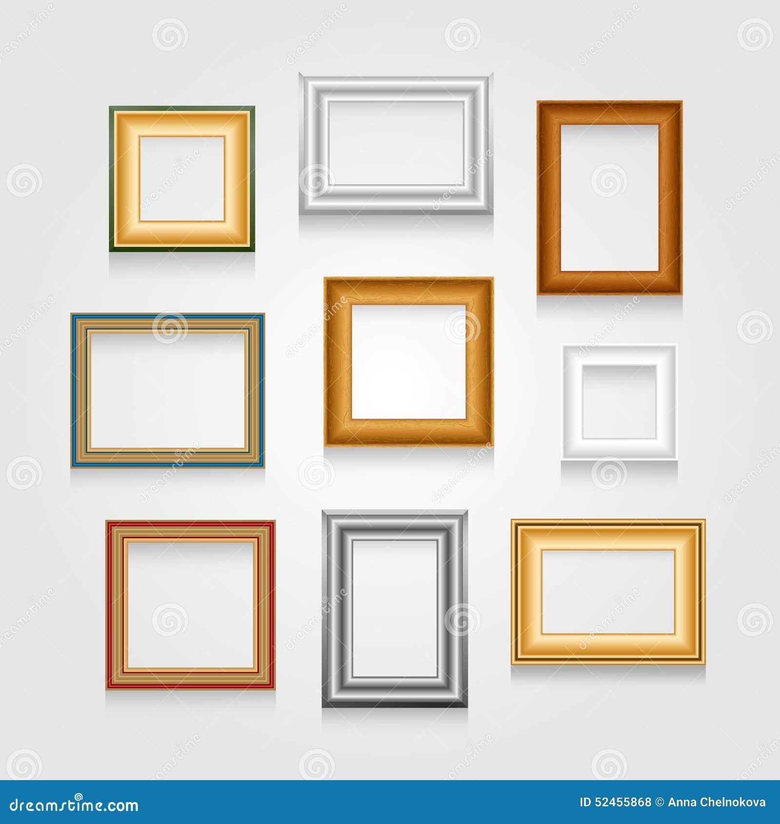 Ensemble de vecteur de cadres de tableau illustration de - Image de cadre de tableau ...