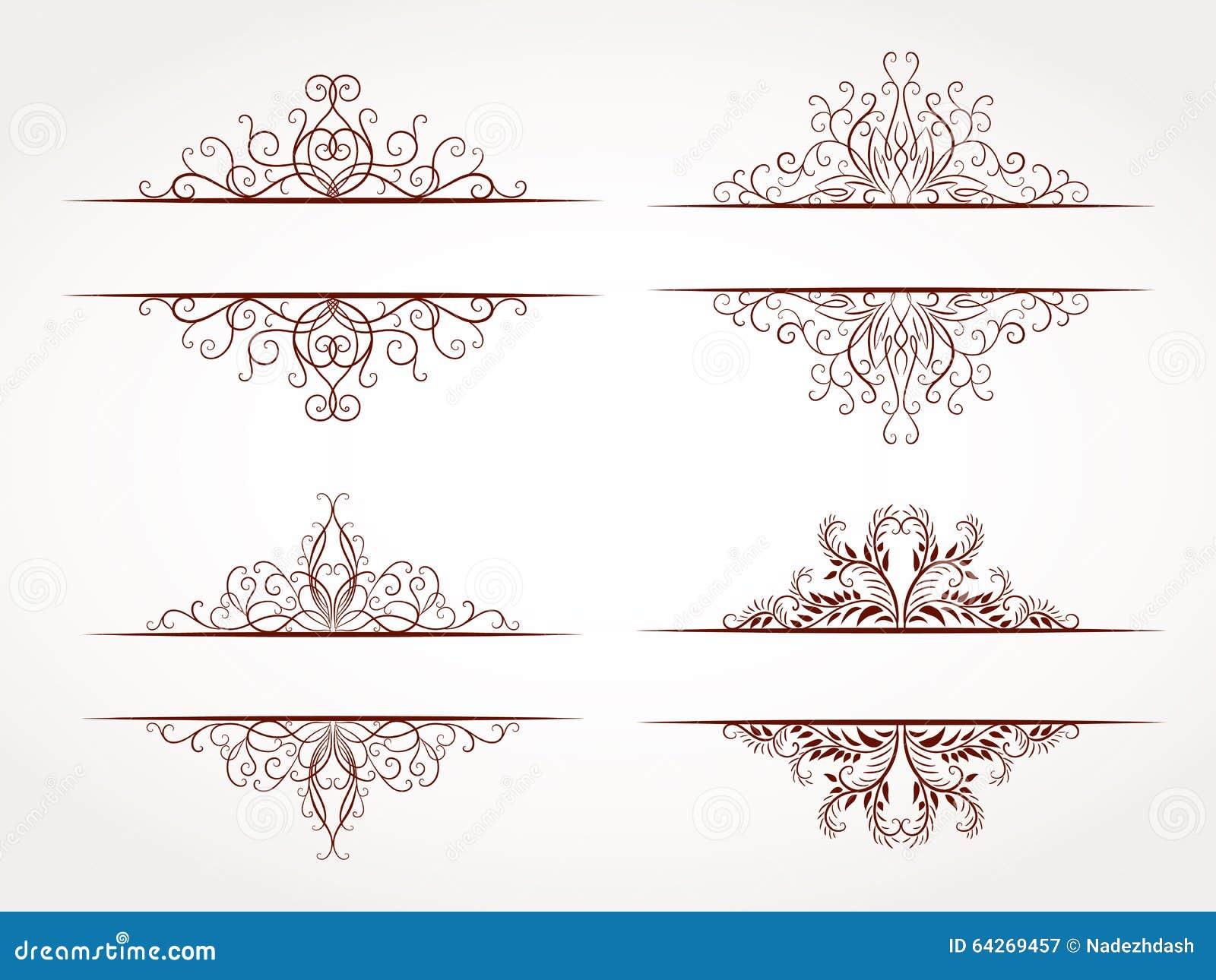 ensemble de vecteur de cadres ornementaux image stock. Black Bedroom Furniture Sets. Home Design Ideas