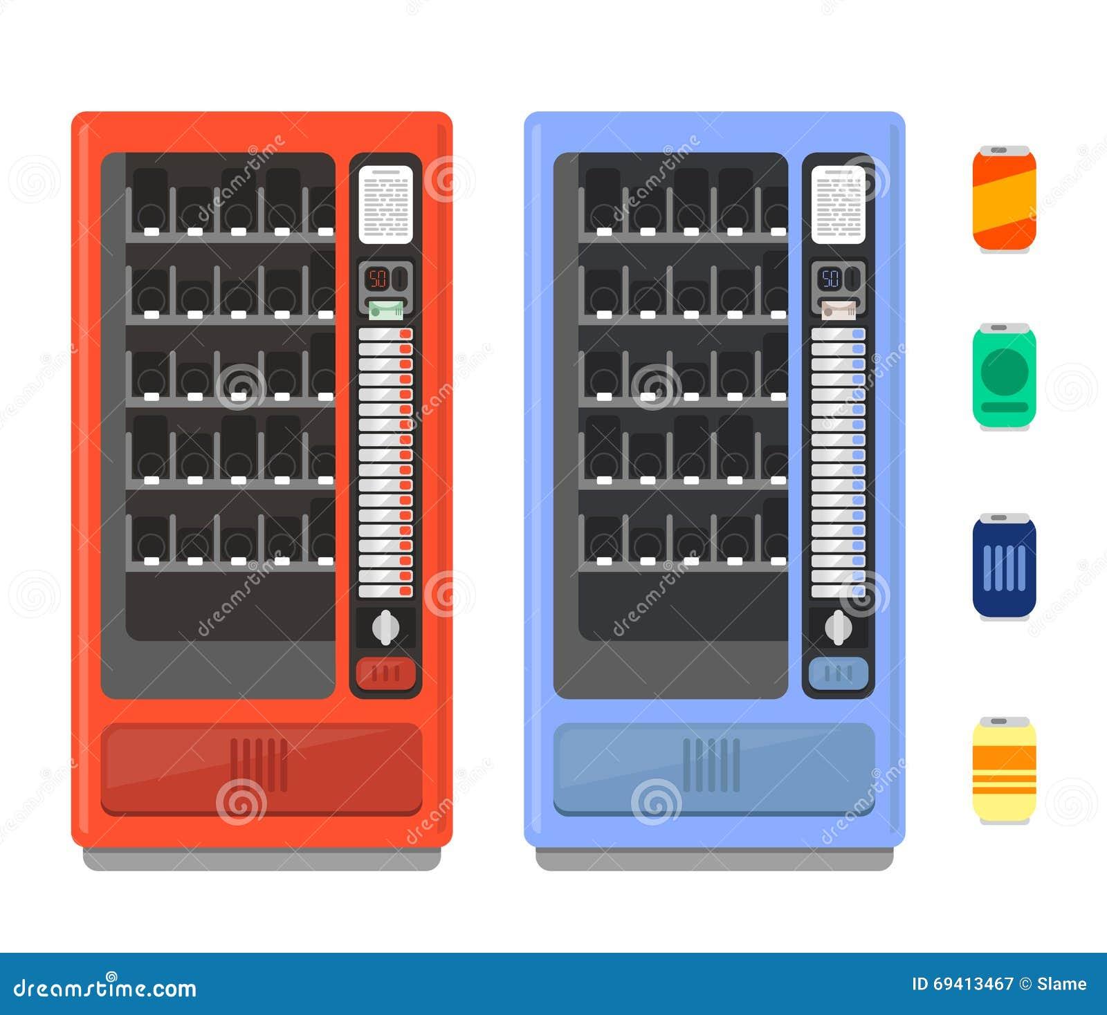 ensemble de vecteur de distributeur automatique se vendre. Black Bedroom Furniture Sets. Home Design Ideas