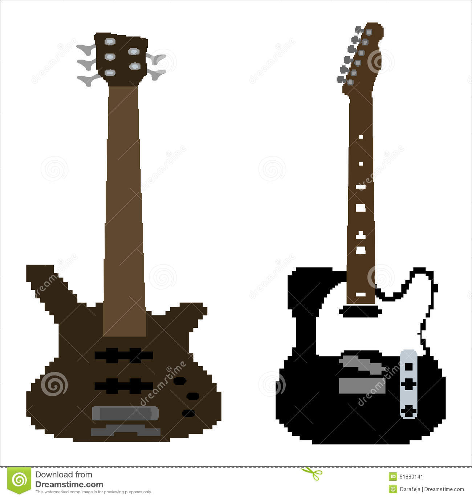 pixel art guitare