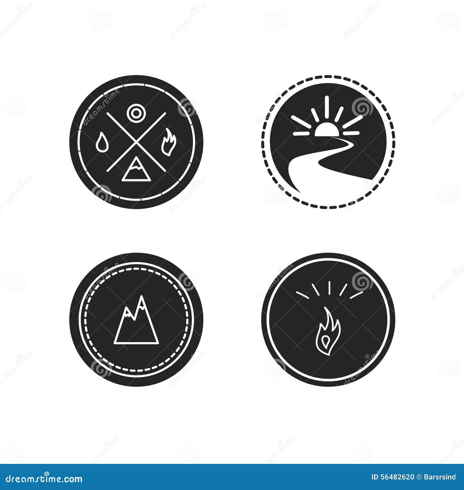 Ensemble de vecteur de logotypes d écologie