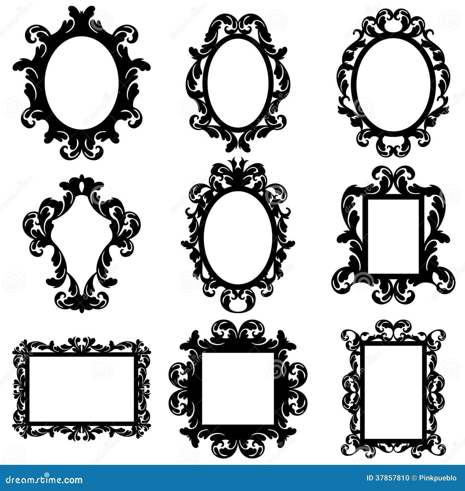 Ensemble Cadre Photo : ensemble de vecteur de silhouettes baroques de cadre photo stock image 37857810 ~ Teatrodelosmanantiales.com Idées de Décoration