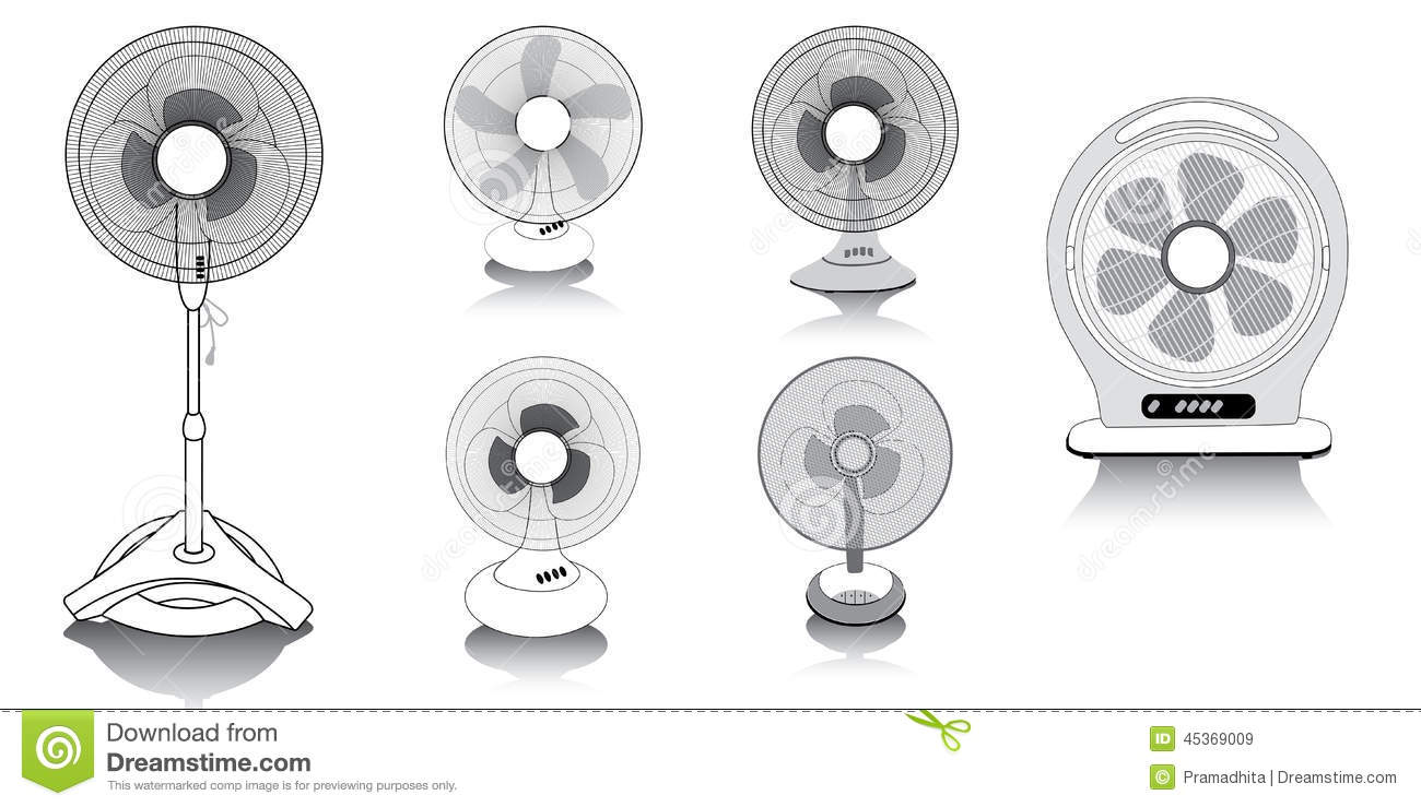 ENSEMBLE DE VECTEUR DE VENTILATEUR