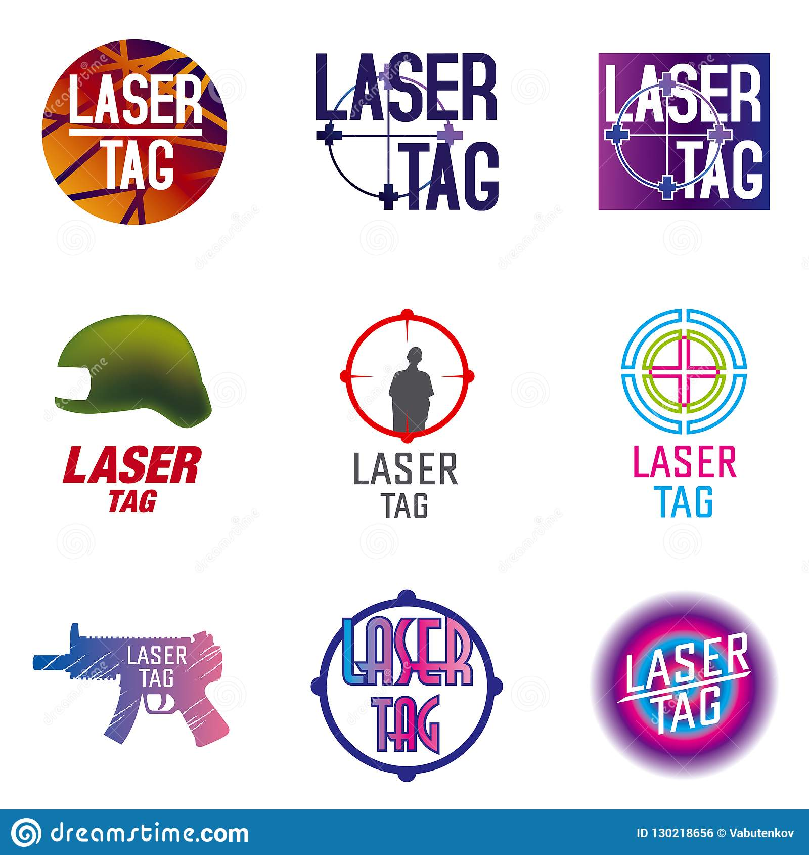 Ensemble de vecteur de logos pour l étiquette de laser