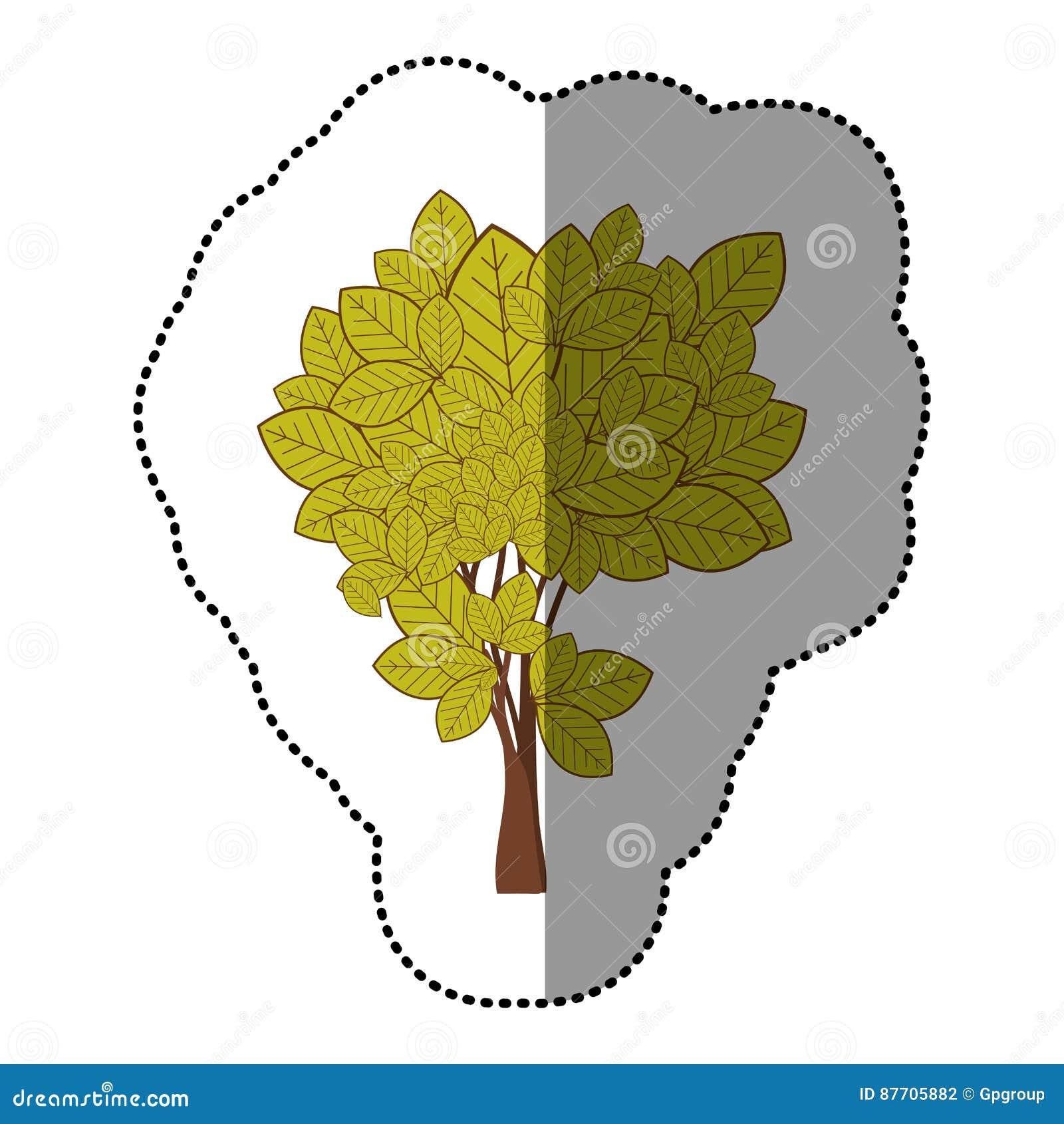 Ensemble de vert de chaux d icône abstraite d arbre