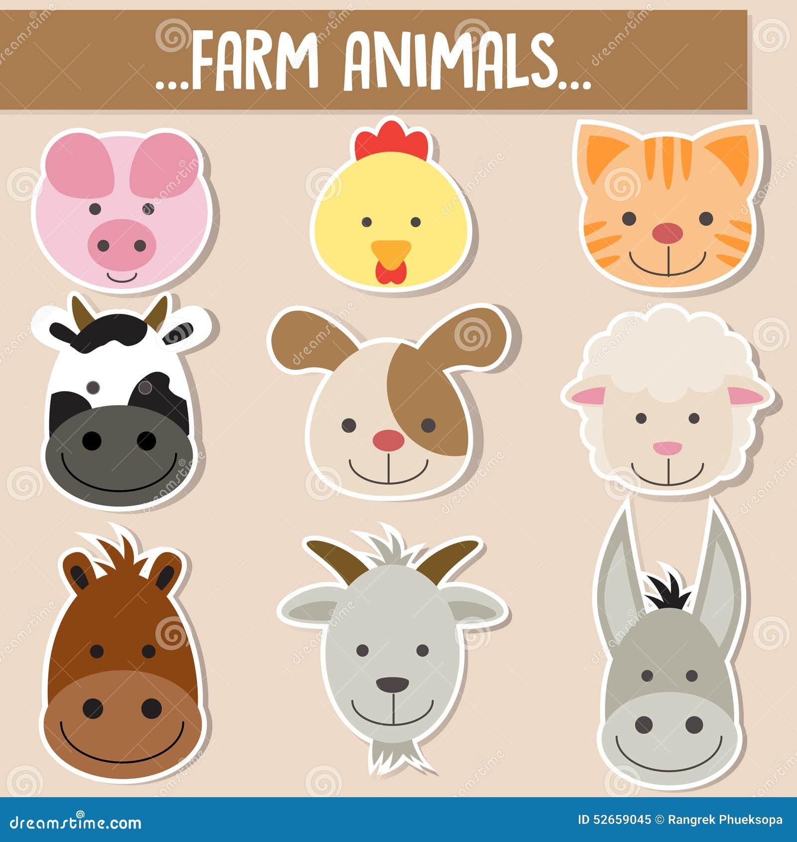 Ensemble de visages animaux