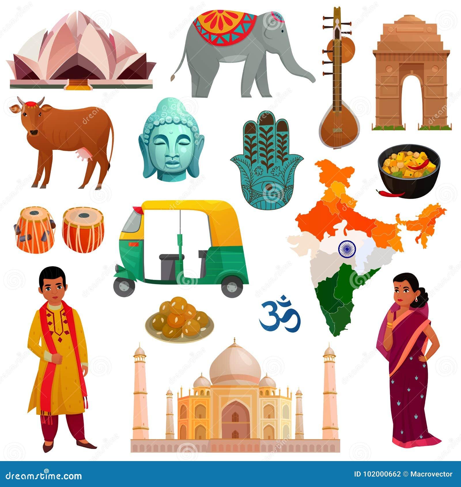 Ensemble de voyage d Inde
