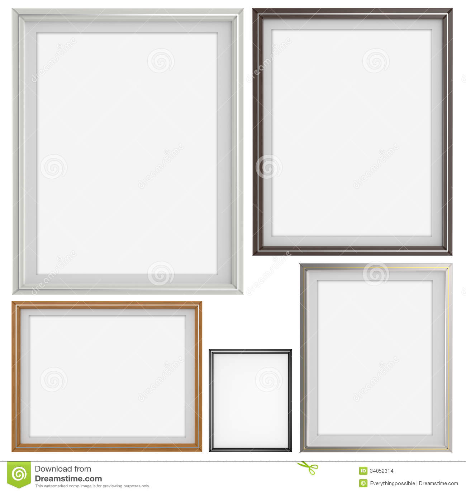 Ensemble du cadre 3d moderne vide sur le fond de texture images stock image 34052314 for Cadre photo moderne