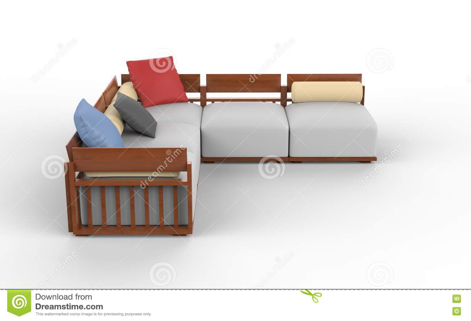 Ensemble faisant le coin moderne frais de meubles