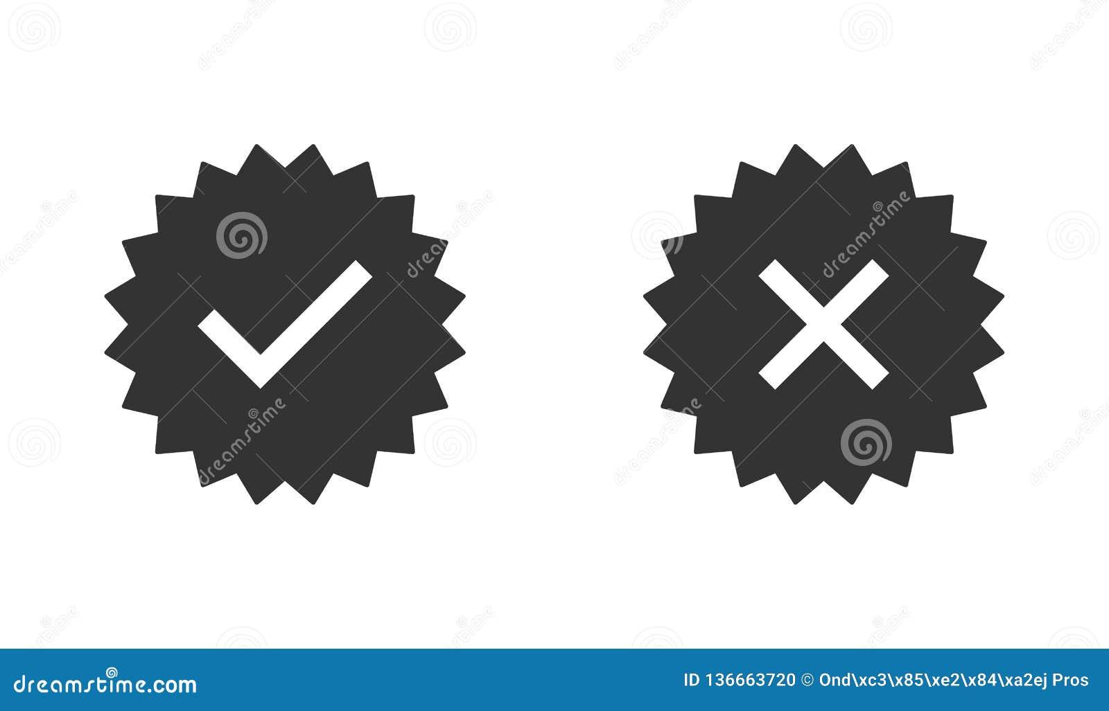 Ensemble garanti de timbre ou insigne vérifié Timbre vérifié d icône