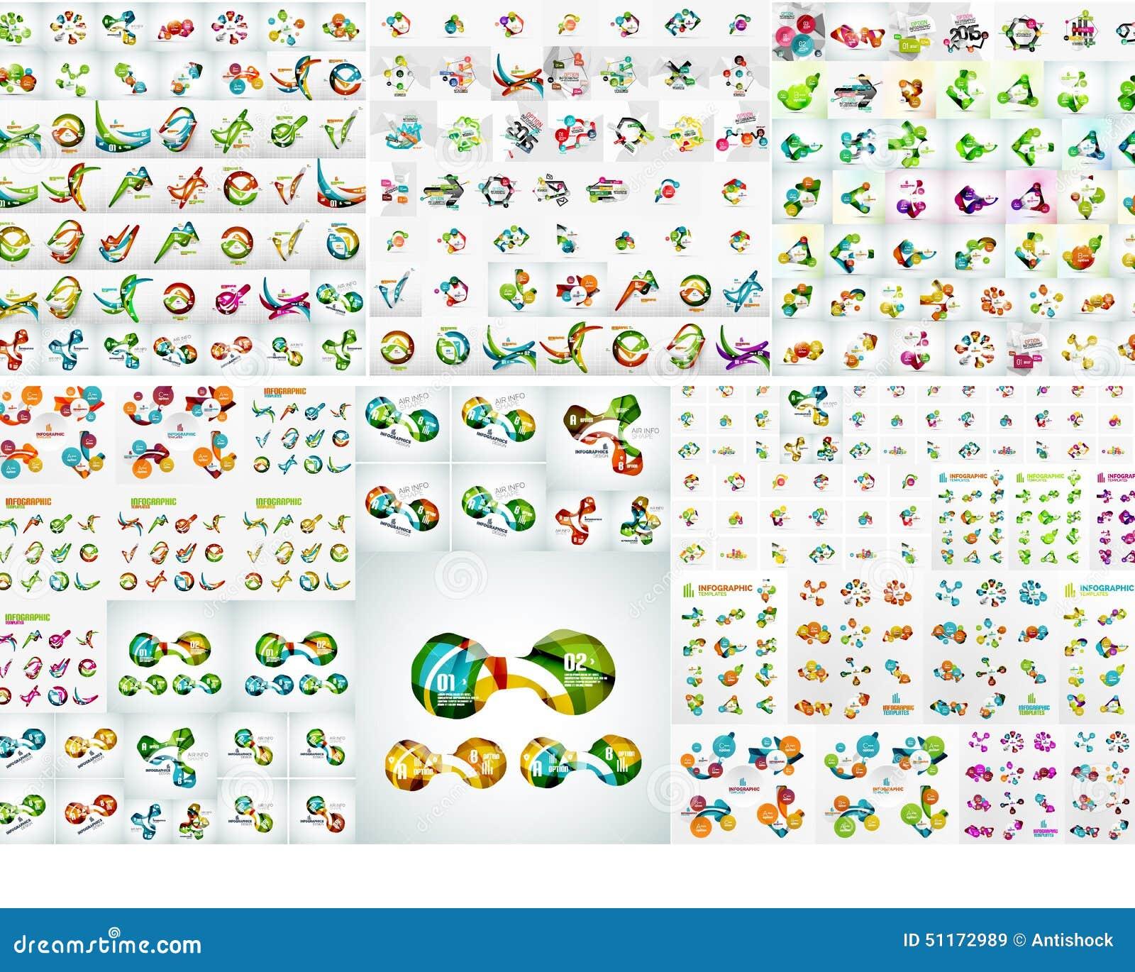Ensemble infographic abstrait moderne de bannière