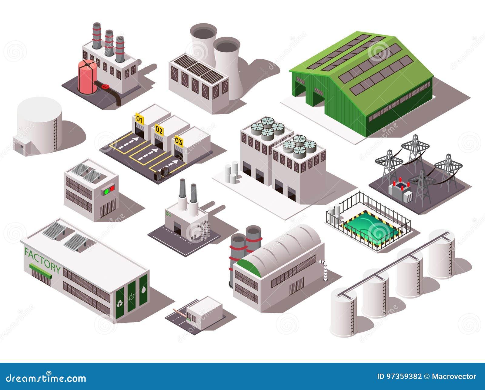 Ensemble isométrique d usine
