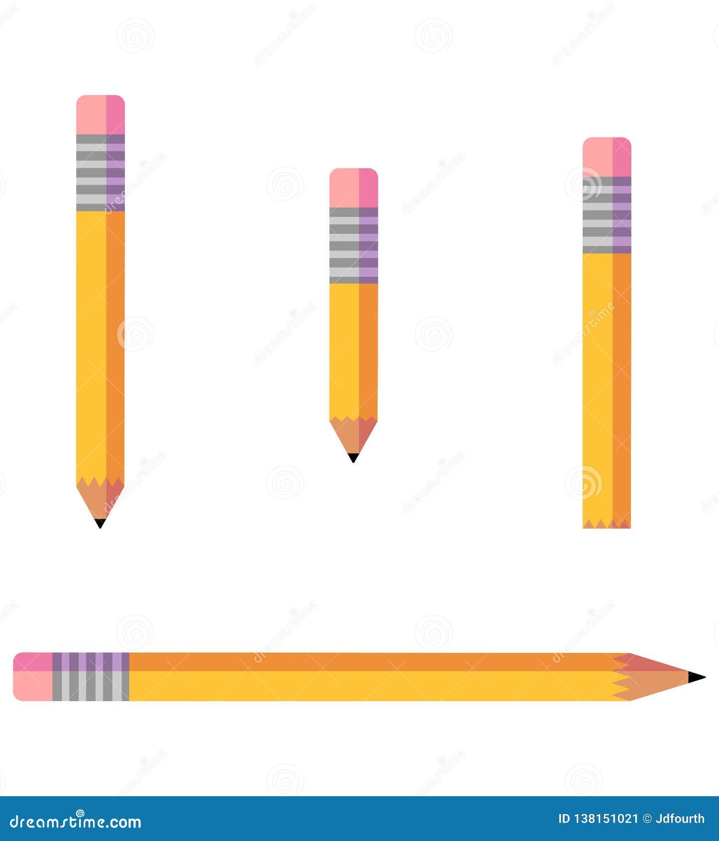 Ensemble minimaliste de vecteur d icône de crayon
