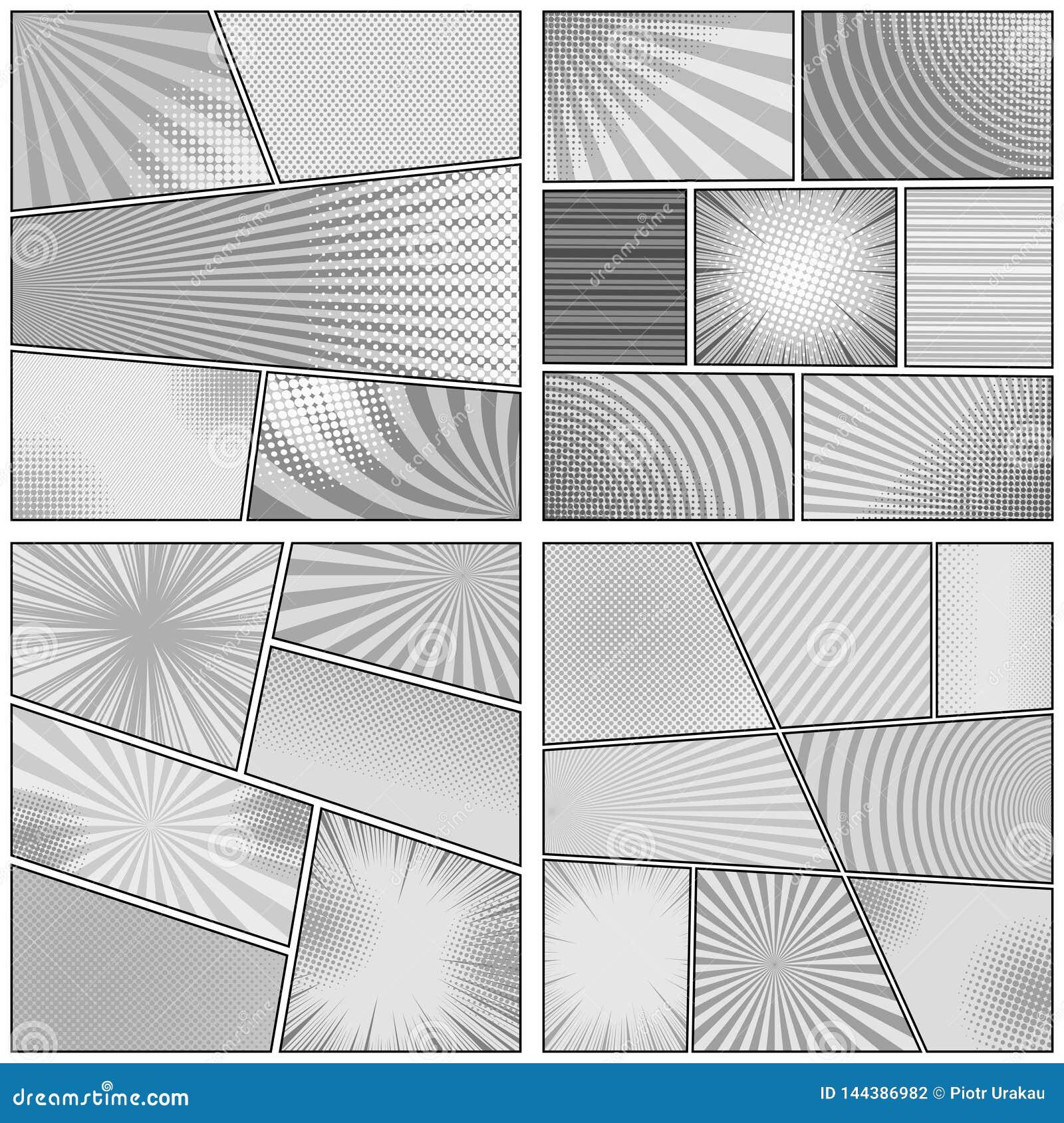 Ensemble monochrome comique de milieux de conception