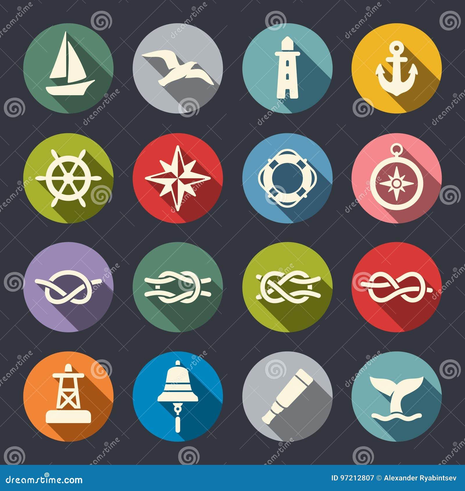 Ensemble nautique d icône