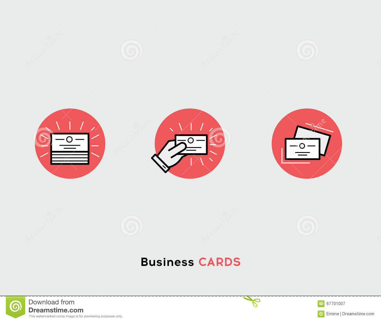 Ensemble Plat D Illustration De Cartes Visite Professionnelle Ligne Icones Modernes