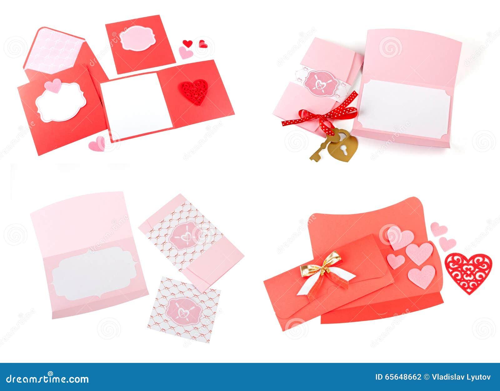 Ensemble romantique de conception Pour être employé pour des cartes postales, invitations, carte